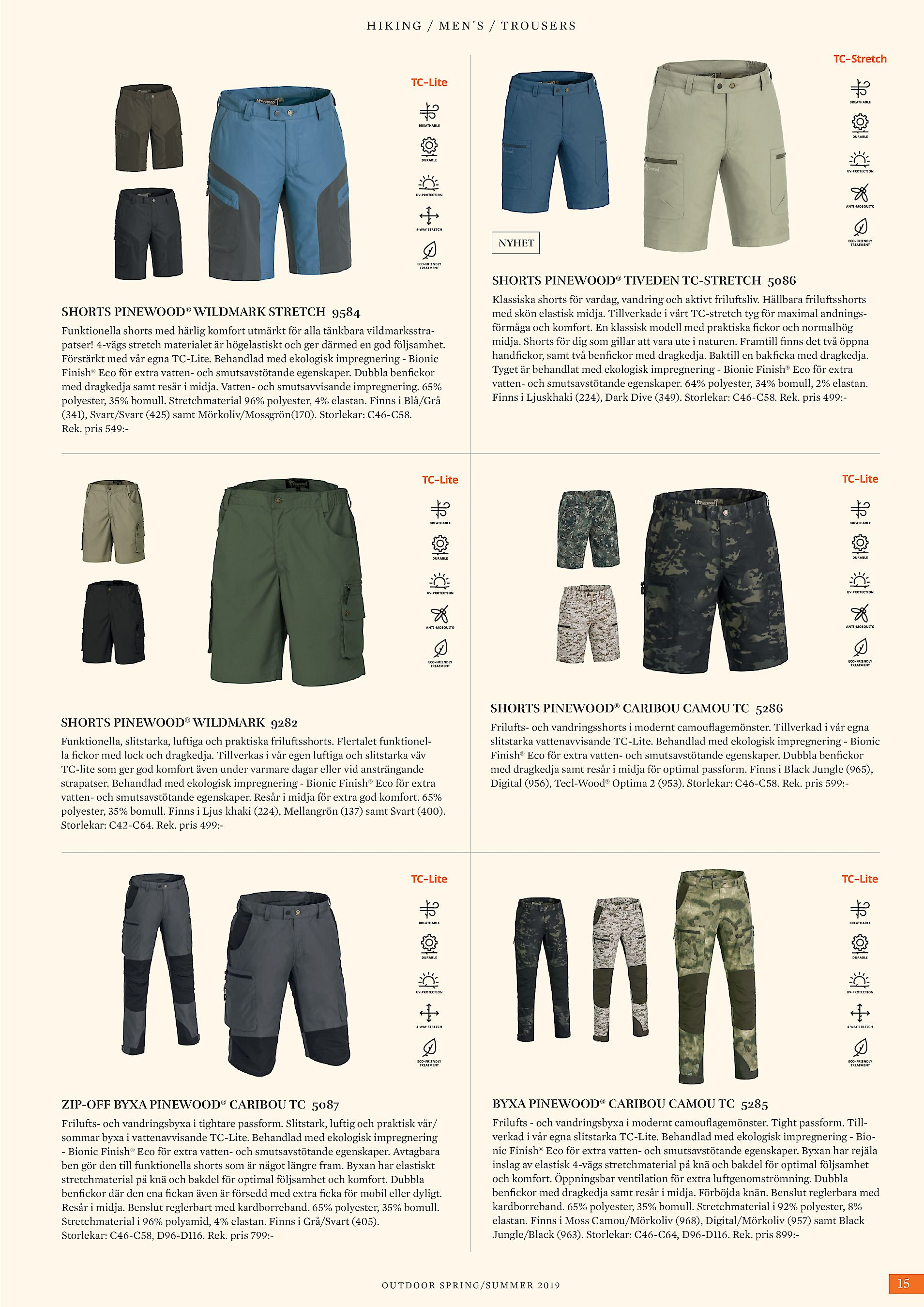 e52be88e8152 HIKING / MEN´S / TROUSERS NYHET SHORTS PINEWOOD® TIVEDEN TC-STRETCH 5086 SHORTS  PINEWOOD® WILDMARK STRETCH 9584 Funktionella shorts med härlig komfort ...