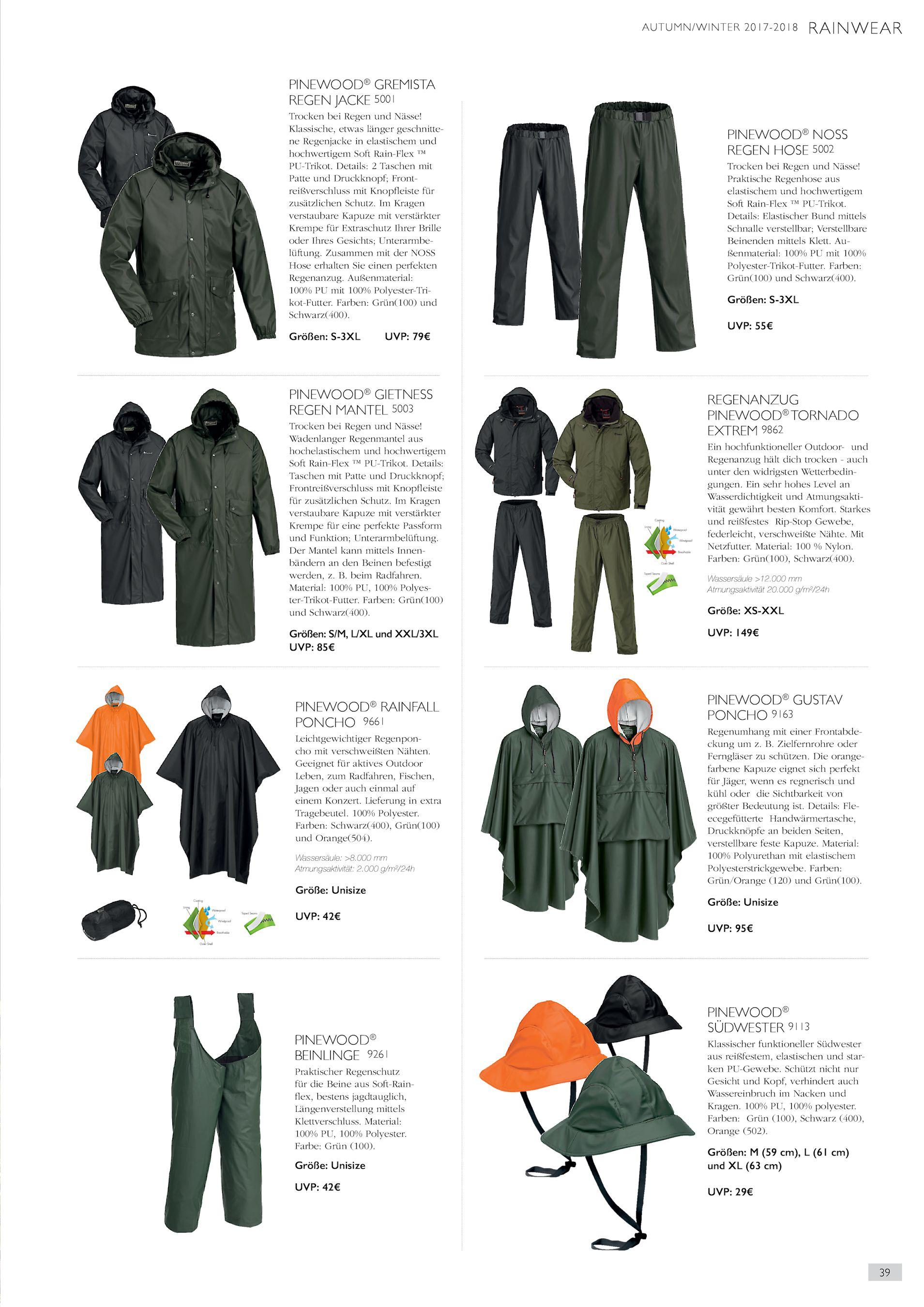 Klassische, etwas länger geschnittene Regenjacke in elastischem und  hochwertigem Soft Rain-Flex ™ PU-Trikot. Details  2 Taschen mit Patte und  ... d8bd4c6388