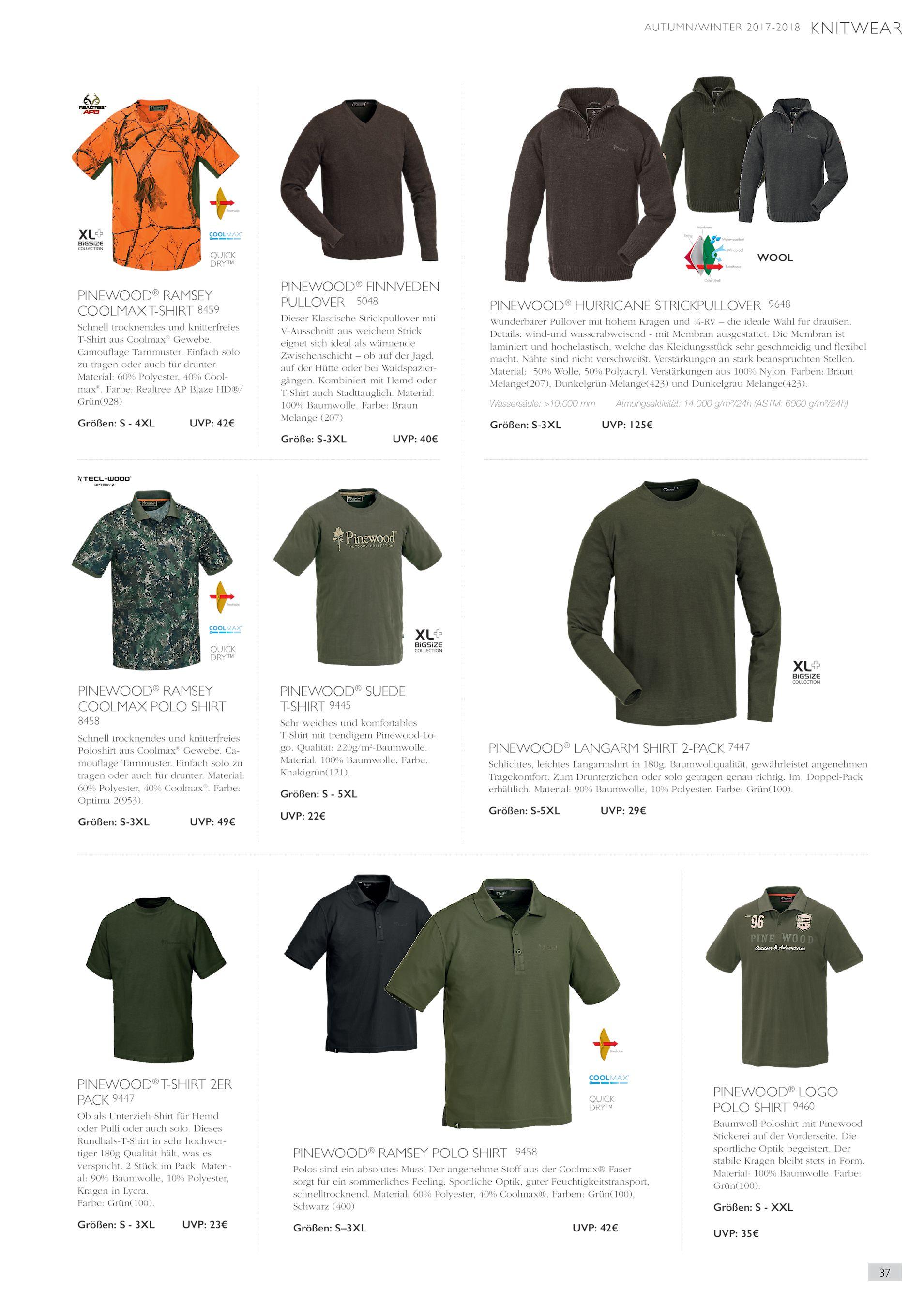 Pinewood Suede T-Shirt Khakigrün S-XXL 9445 grün Angel Bekleidung oliv Jagd
