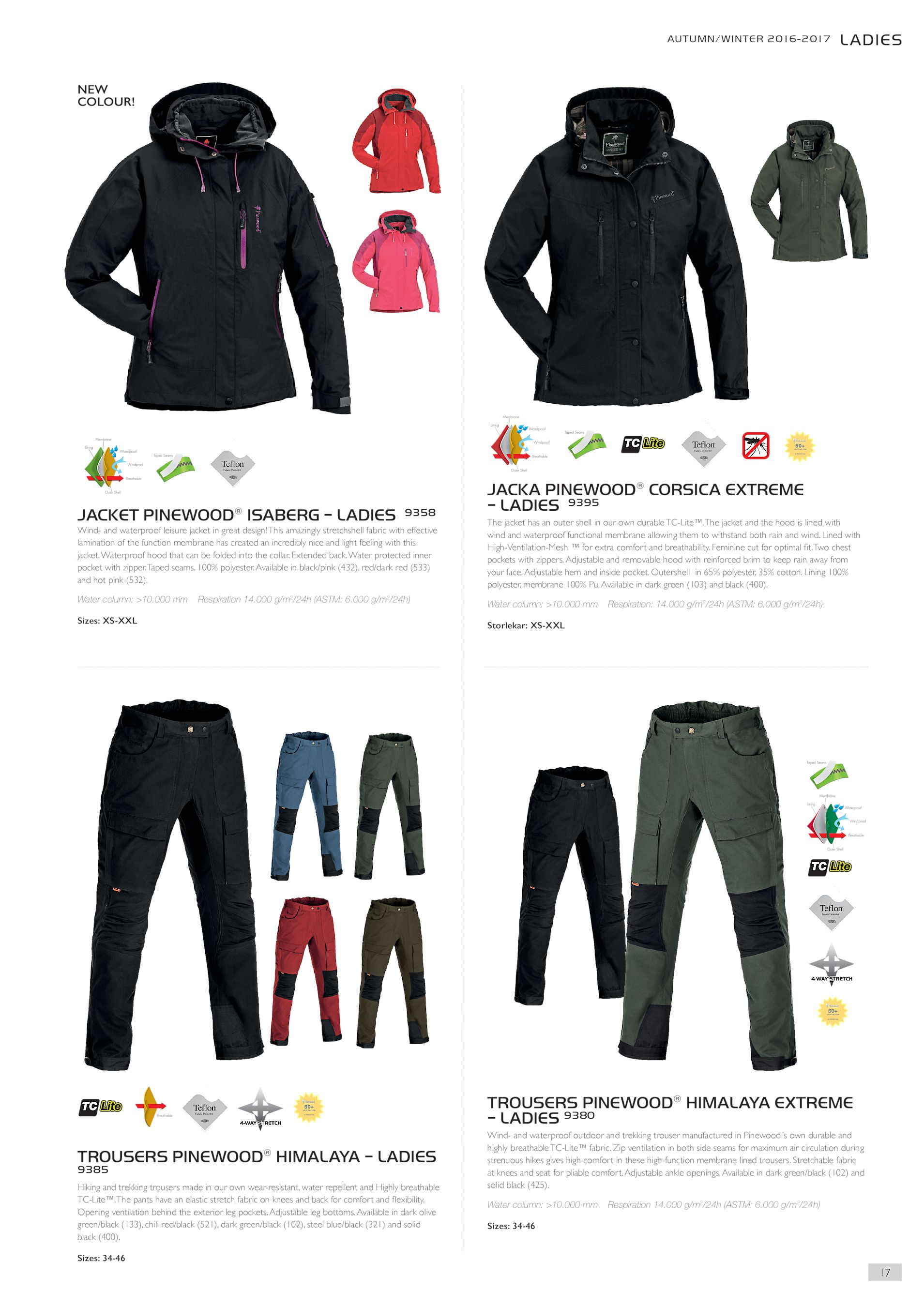 JACKET PINEWOOD® ISABERG – LADIES 9358 Wind- and waterproof leisure jacket  in great design! This amazingly stretchshell fabric with effective  lamination of ... a4a42c4788919
