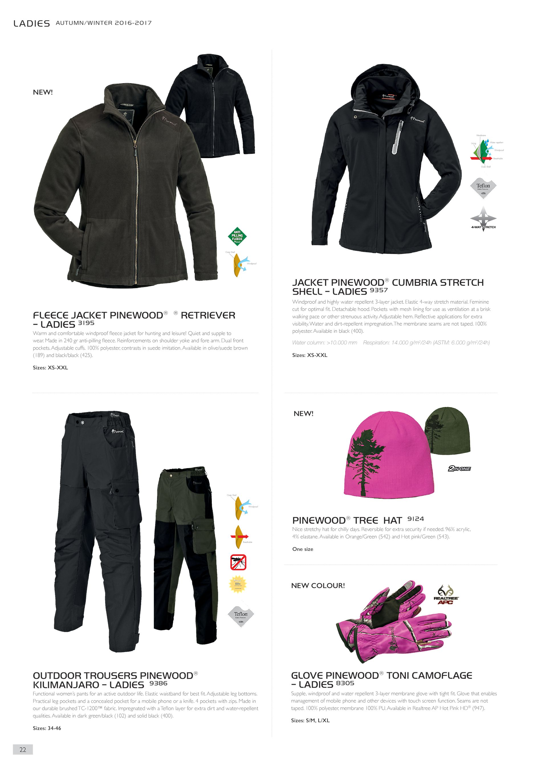 JACKET PINEWOOD® CUMBRIA STRETCH SHELL – LADIES 9357 FLEECE JACKET PINEWOOD®  ® RETRIEVER – LADIES 3195 Warm and comfortable windproof fleece jacket for  ... ff442f132a3ad