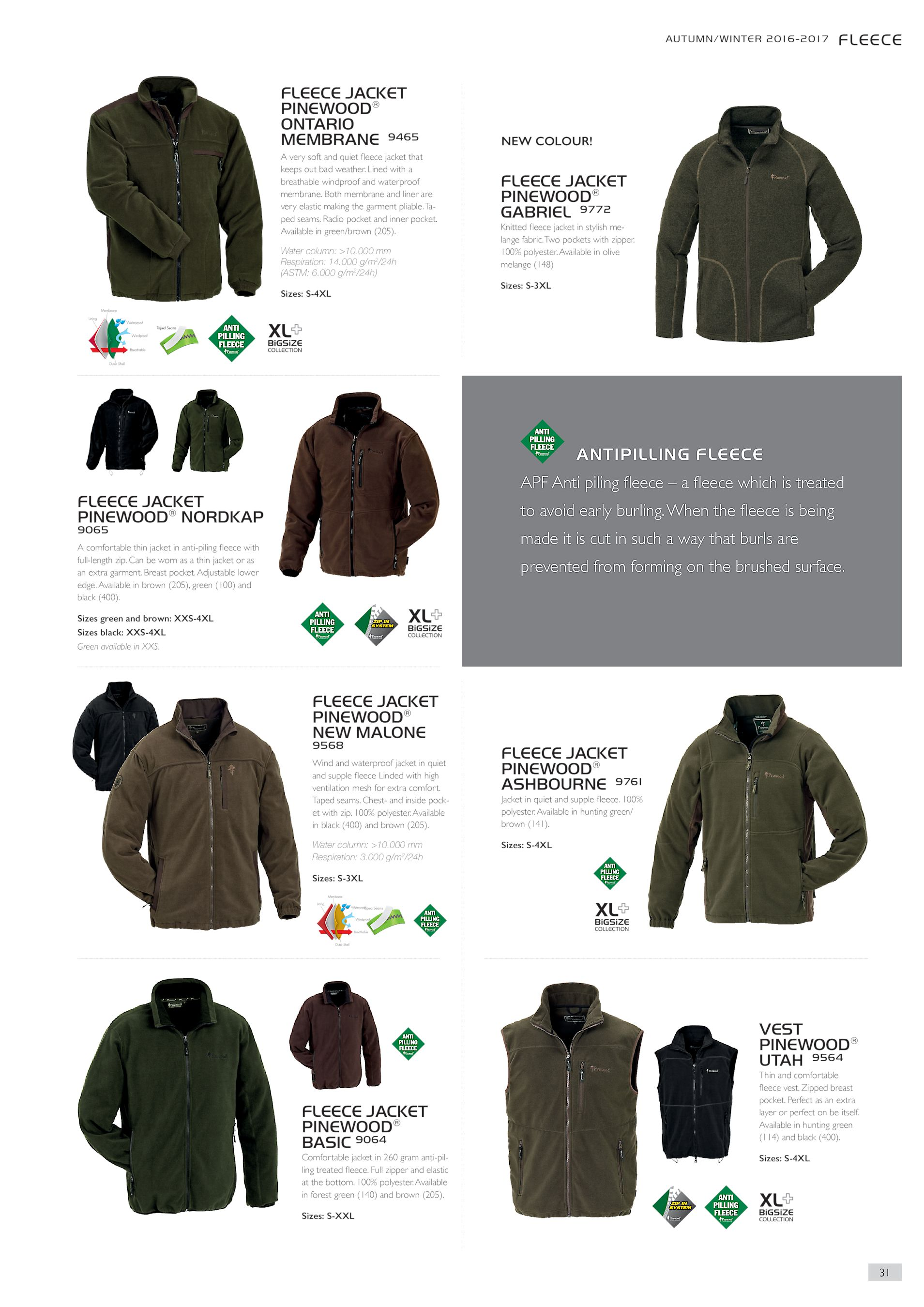 AUTUMN WINTER 2016-2017 FLEECE JACKET PINEWOOD® ONTARIO MEMBRANE 9465 A  very soft and quiet fleece jacket that keeps out bad weather. fa751e3db6125
