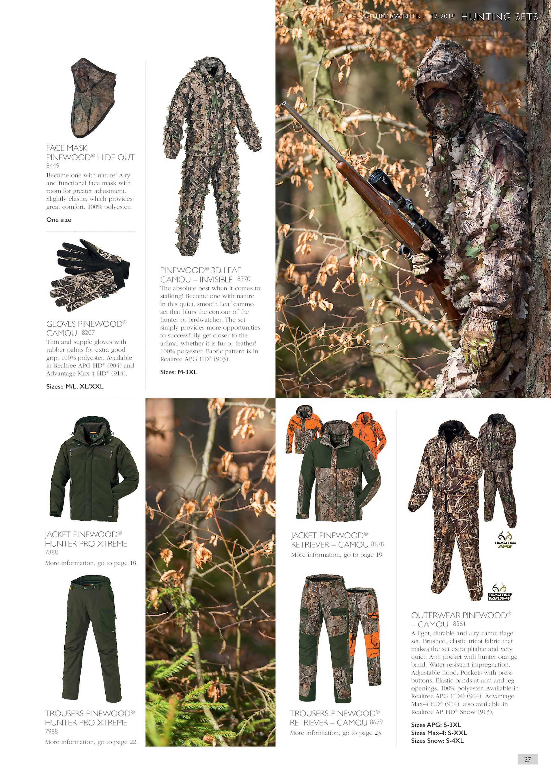 c30d5fa6c1580 AUTUMN/WINTER 2017-2018 HUNTING SETS FACE MASK PINEWOOD® HIDE OUT 8449  Become one with nature! Airy and functional face mask with room for greater  ...