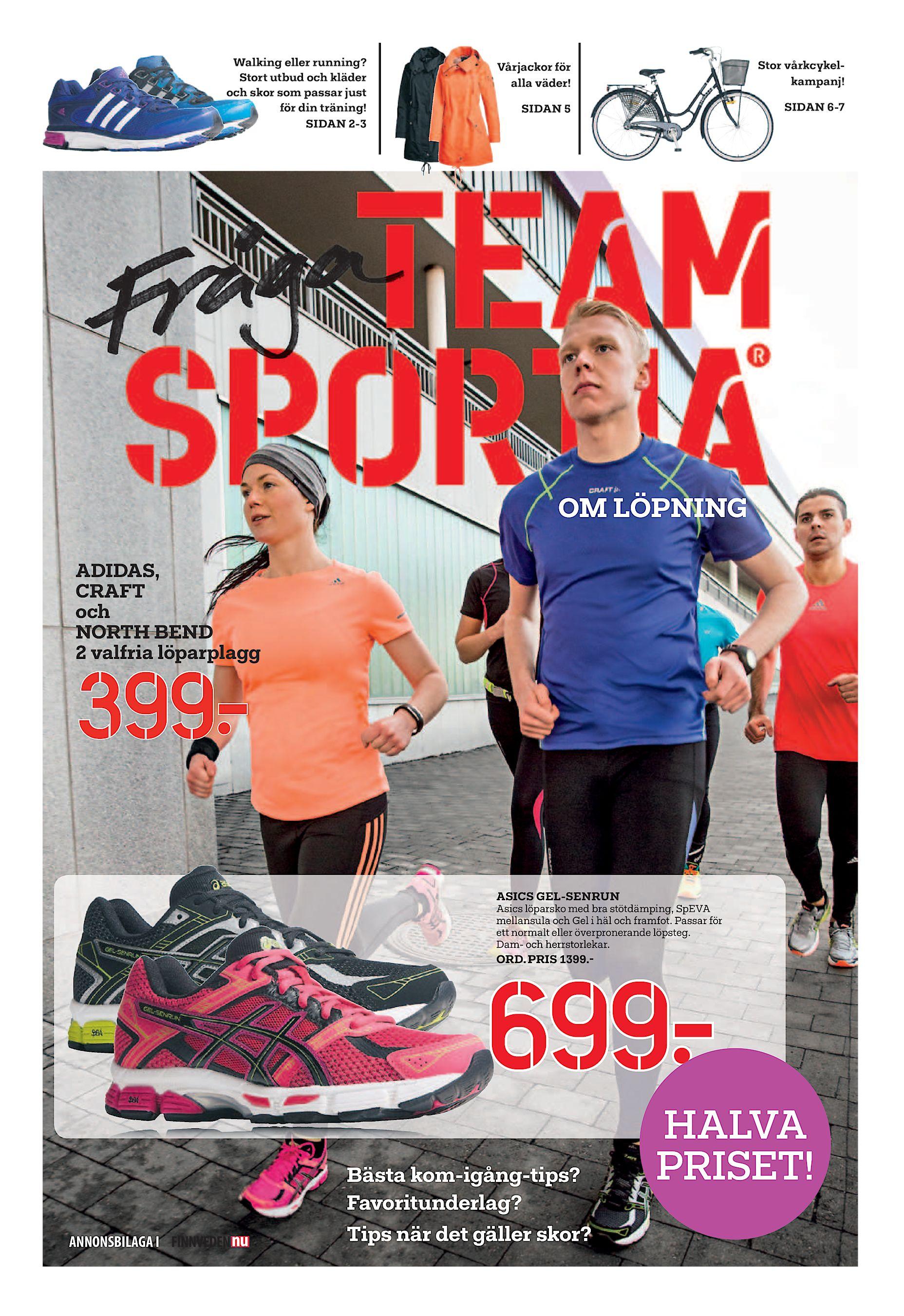 detailed look 643d3 e5c86 Stort utbud och kläder och skor som passar just för din träning! SIDAN 2-3  Vårjackor för alla väder! Stor vårkcykelkampanj! SIDAN 5 SIDAN 6-7 OM  LÖPNING ...