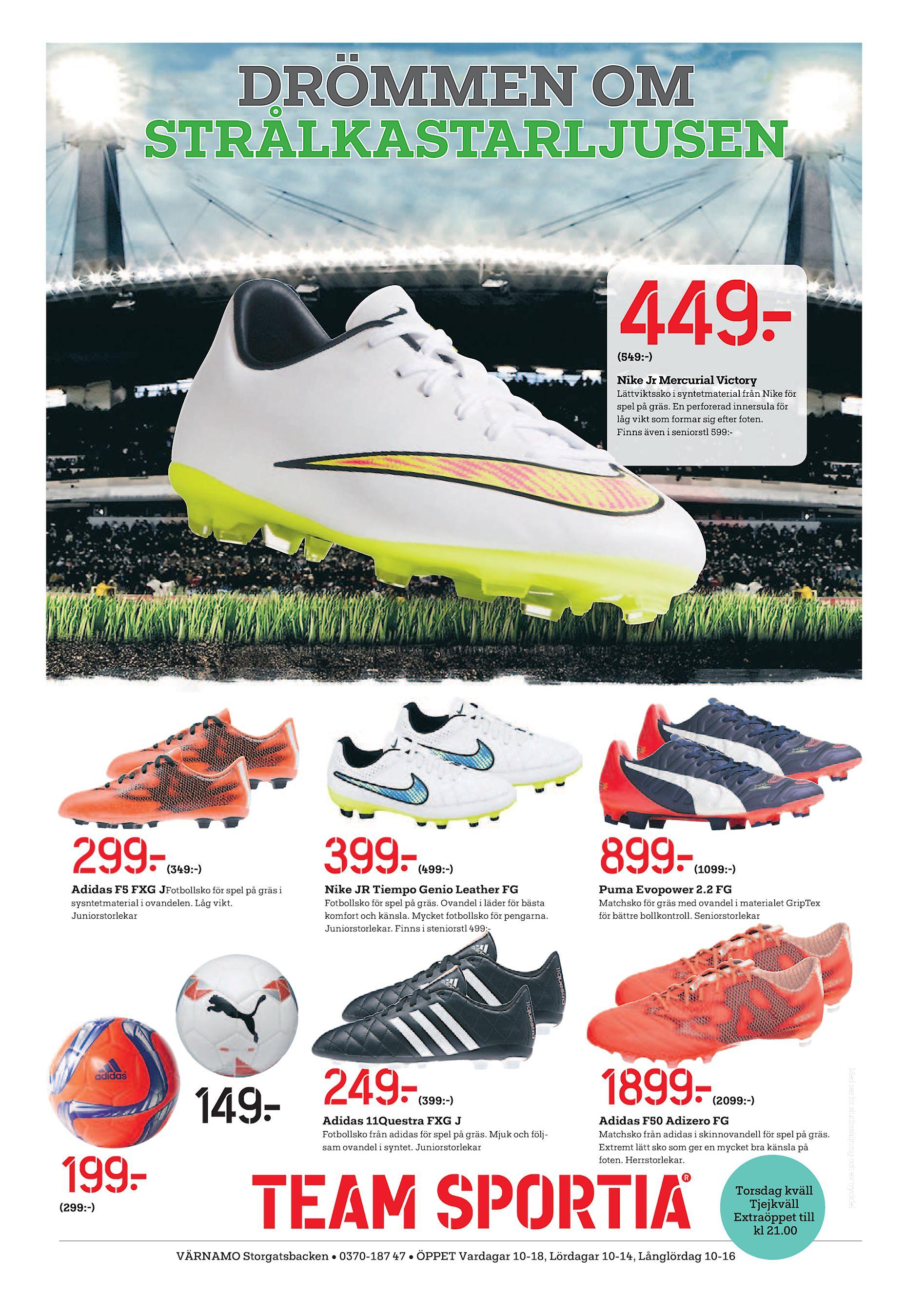 buy online a4490 a96f4 DRÖMMEN OM STRÅLKASTARLJUSEN 449  (549 -) Nike Jr Mercurial Victory  Lättviktssko i syntetmaterial från Nike för spel på gräs. En perforerad  innersula för ...