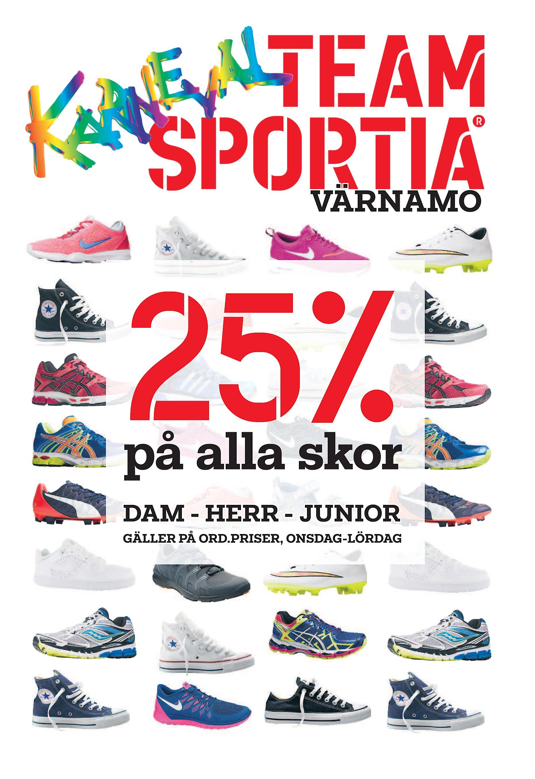 the latest b4f9f cb26b VÄRNAMO 25% på alla skor DAM - HERR - JUNIOR GÄLLER PÅ ORD.PRISER,  ONSDAG-LÖRDAG