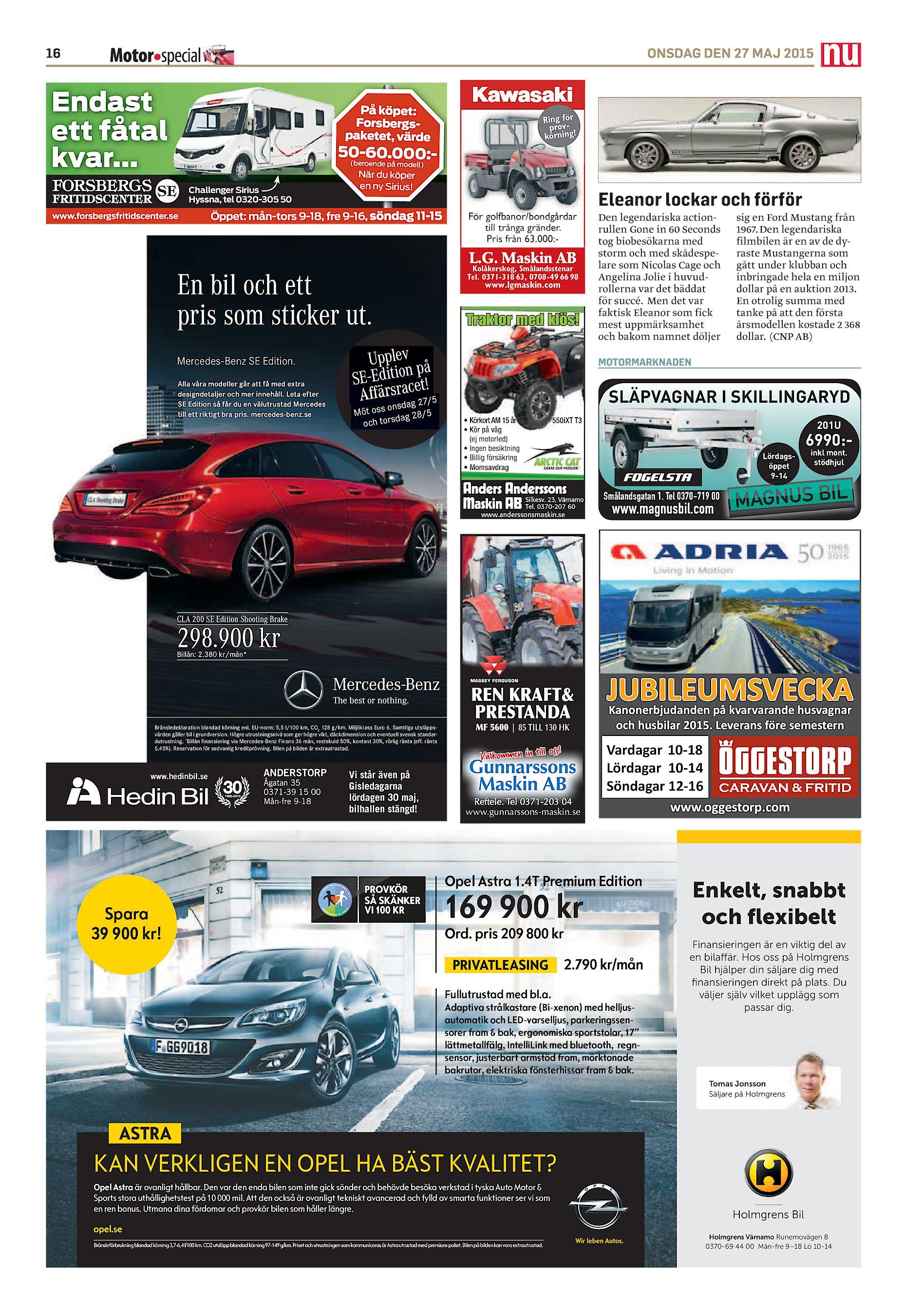 597094f91e2 50-60.000:(beroende på modell) Challenger Sirius Hyssna, tel 0320-305 50  www.forsbergsfritidscenter.se När du köper en ny Sirius!