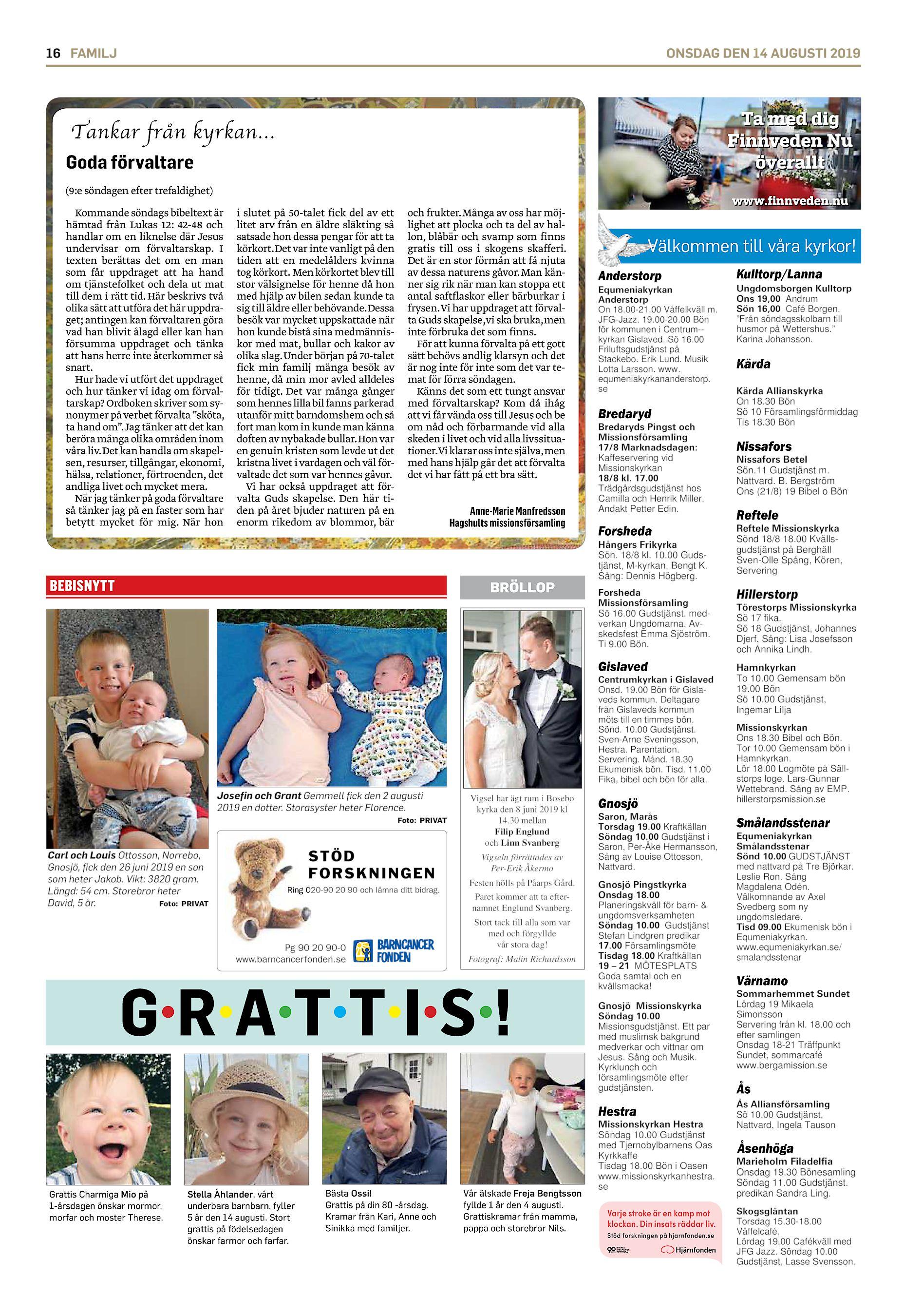 Vilka fyller r i Bredaryd idag? - patient-survey.net