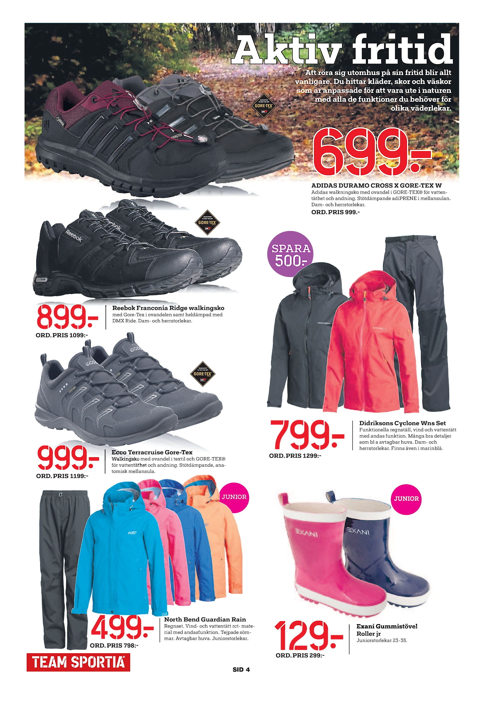 low priced a6d70 0b84f Aktiv fritid Att röra sig utomhus på sin fritid blir allt vanligare. Du  hittar kläder, skor och väskor som är anpassade för att vara ute i naturen  med alla ...