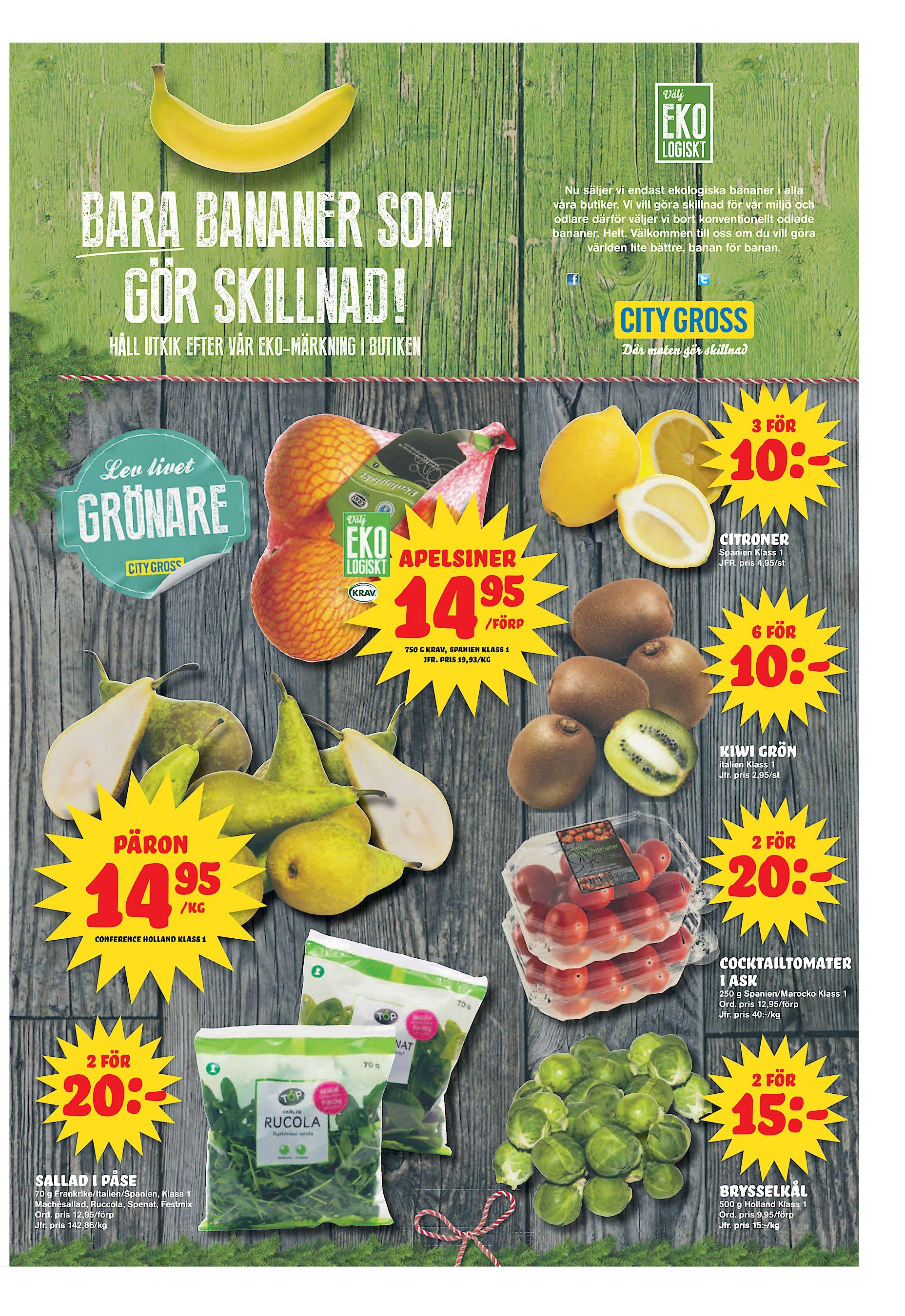 671880a6d11 Nu säljer vi endast ekologiska bananer i alla våra butiker. Vi vill göra  skillnad för vår miljö och odlare därför väljer vi bort konventionellt  odlade ...