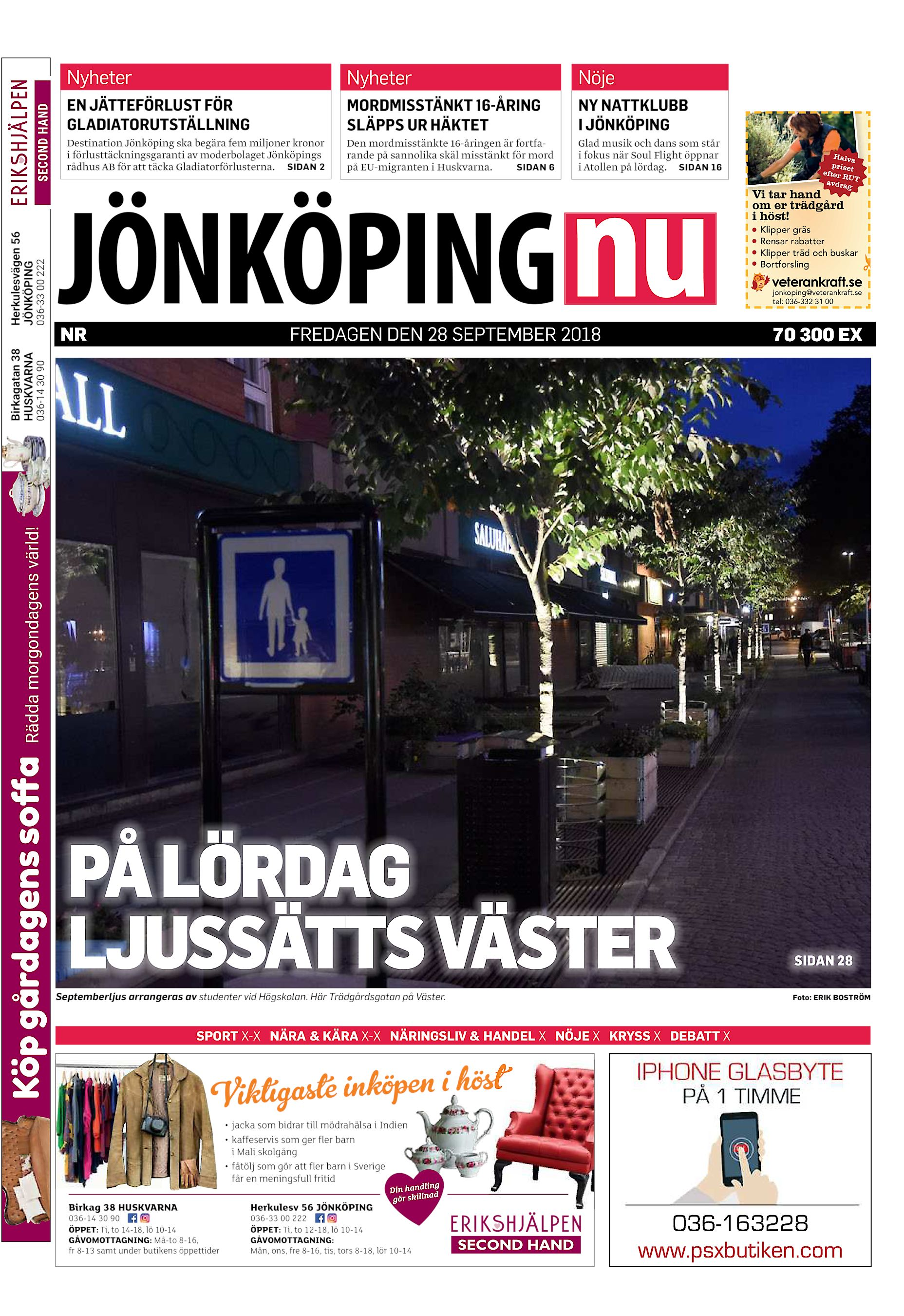 Nyheter Nyheter Nöje EN JÄTTEFÖRLUST FÖR GLADIATORUTSTÄLLNING MORDMISSTÄNKT  16-ÅRING SLÄPPS UR HÄKTET NY NATTKLUBB I JÖNKÖPING Destination Jönköping  ska ... fc24a66cb76b5
