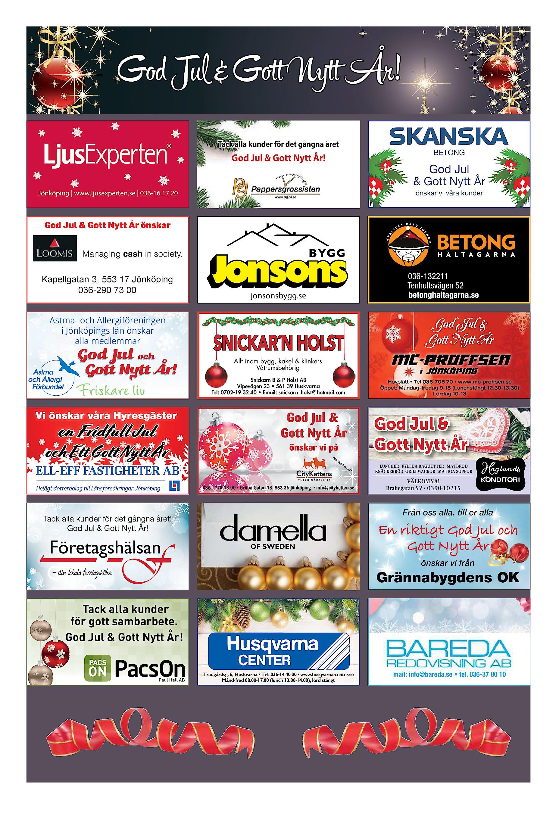 76f9711ffc0 God Jl & Got Nyt År! Tack alla kunder för det gångna året BETONG God Jul &  Gott Nytt År! God Jul & Gott Nytt År önskar vi våra kunder Jönköping ...