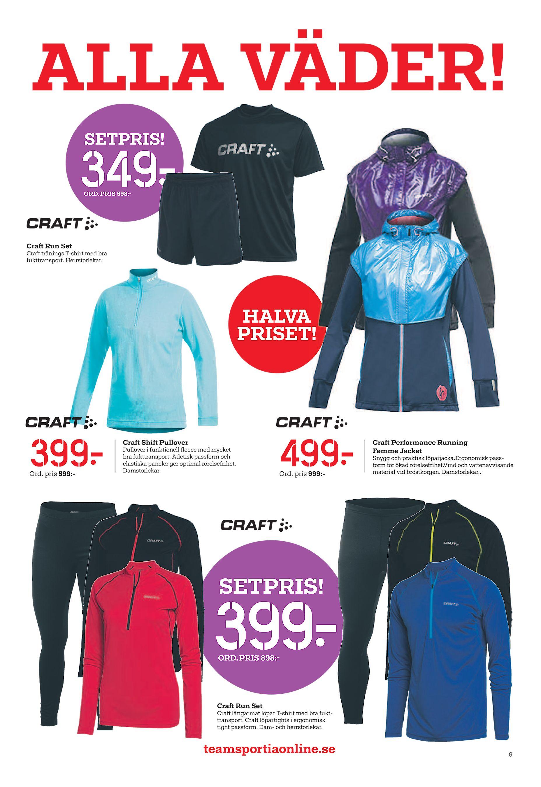 PRIS 598 - Crat Run Set Crat tränings T-shirt med bra fukttransport.  Herrstorlekar. HALVA PRISET! 399  Ord. pris 599 - Crat Shit Pullover  Pullover i ... fe55cde93b1bf