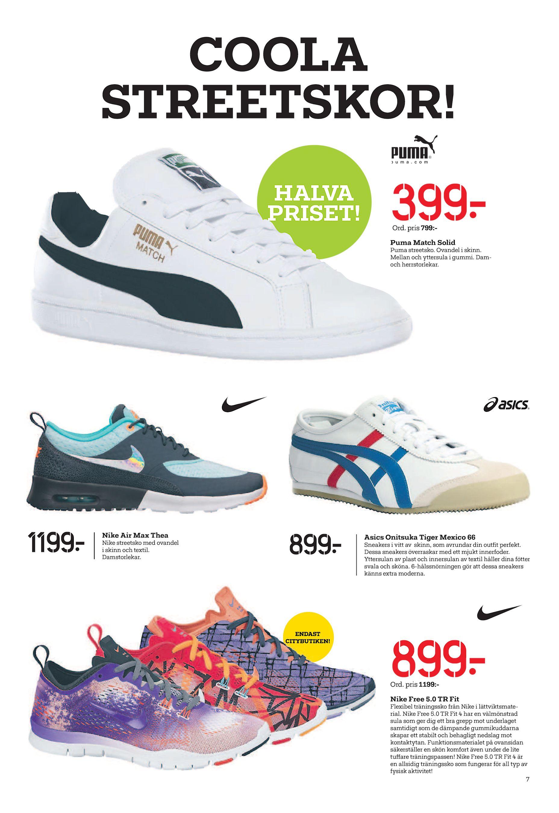 sneakers for cheap a0753 67959 399  Ord. pris 799 Puma Match Solid Puma streetsko. Ovandel i skinn. Mellan  och yttersula i gummi. Damoch herrstorlekar. 1199  Nike Air Max Thea Nike  ...