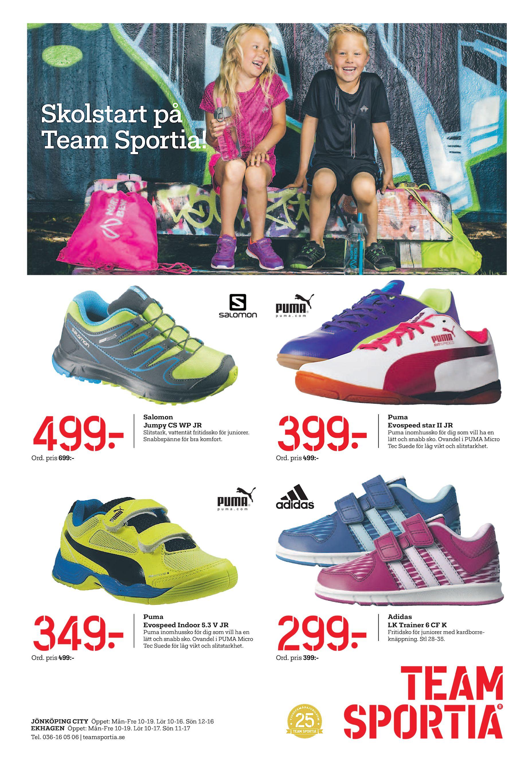 Skolstart på Team Sportia! 499  Salomon Jumpy CS WP JR Slitstark 90628e9645