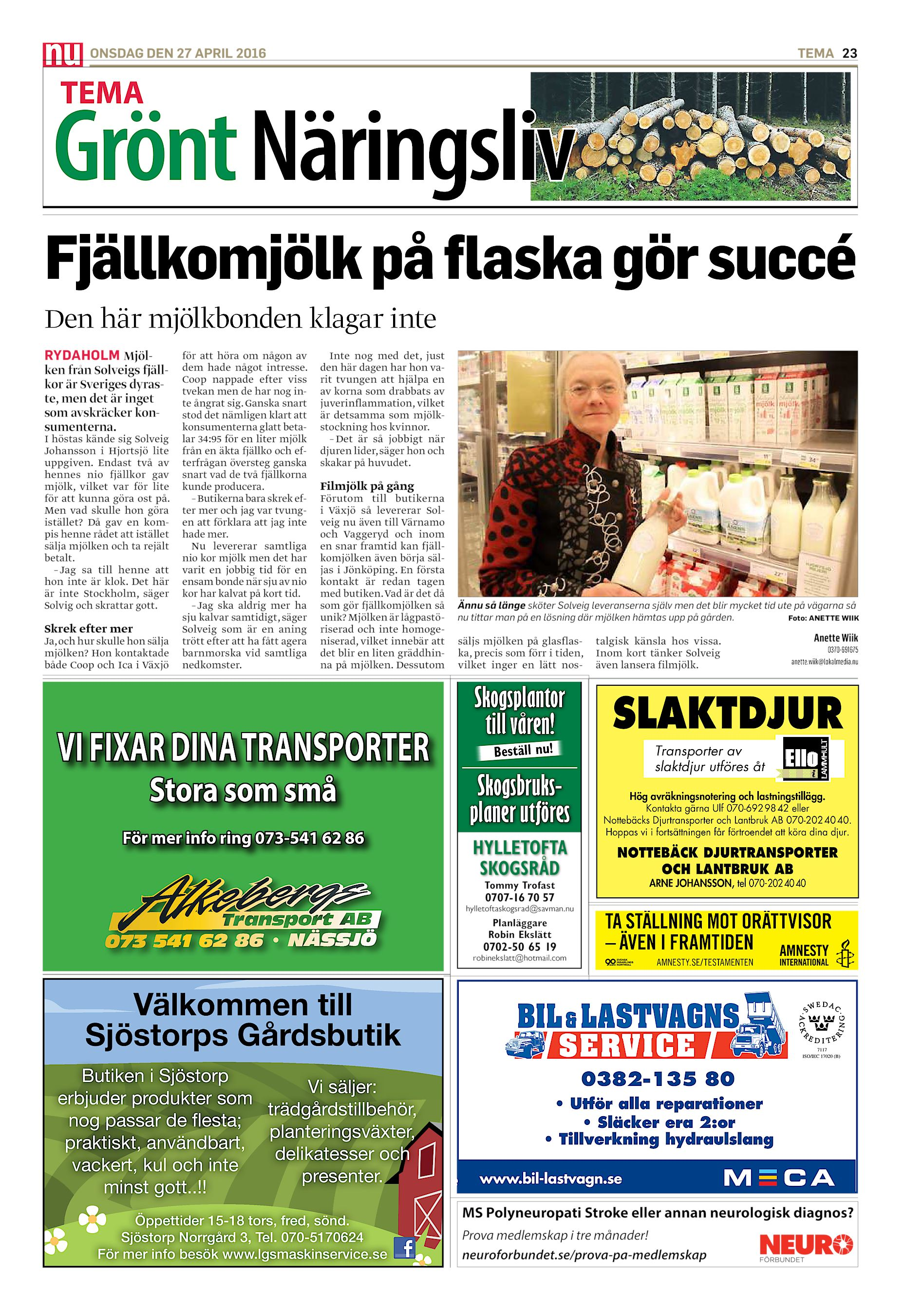Ann-Christine Blomgren, 56 r i Norrhult p Hultkra 2