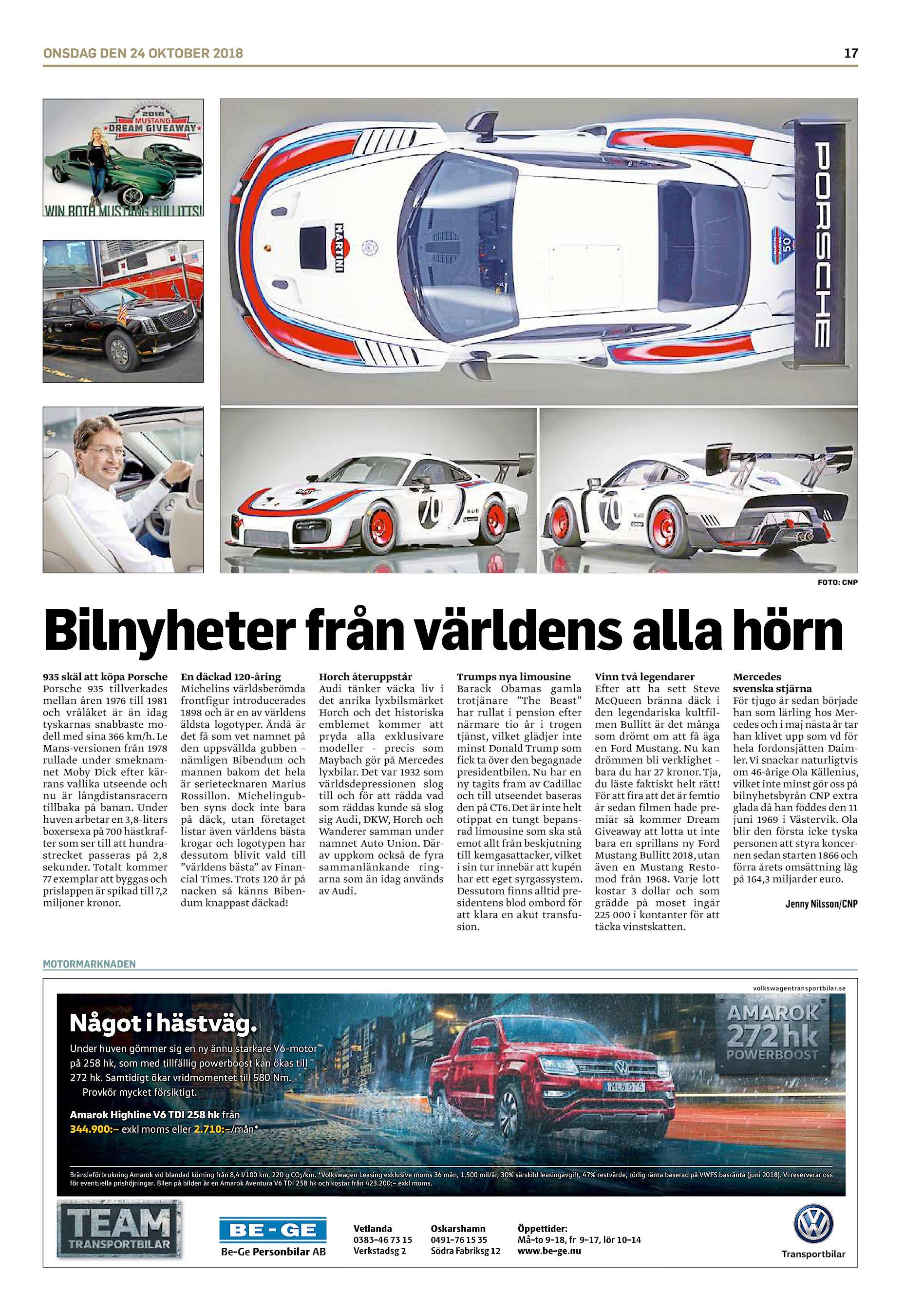 ONSDAG DEN 24 OKTOBER 2018 17 FOTO  CNP Bilnyheter från världens alla hörn  935 skäl att köpa Porsche Porsche 935 tillverkades mellan åren 1976 till  1981 och ... 2fdfce5250844