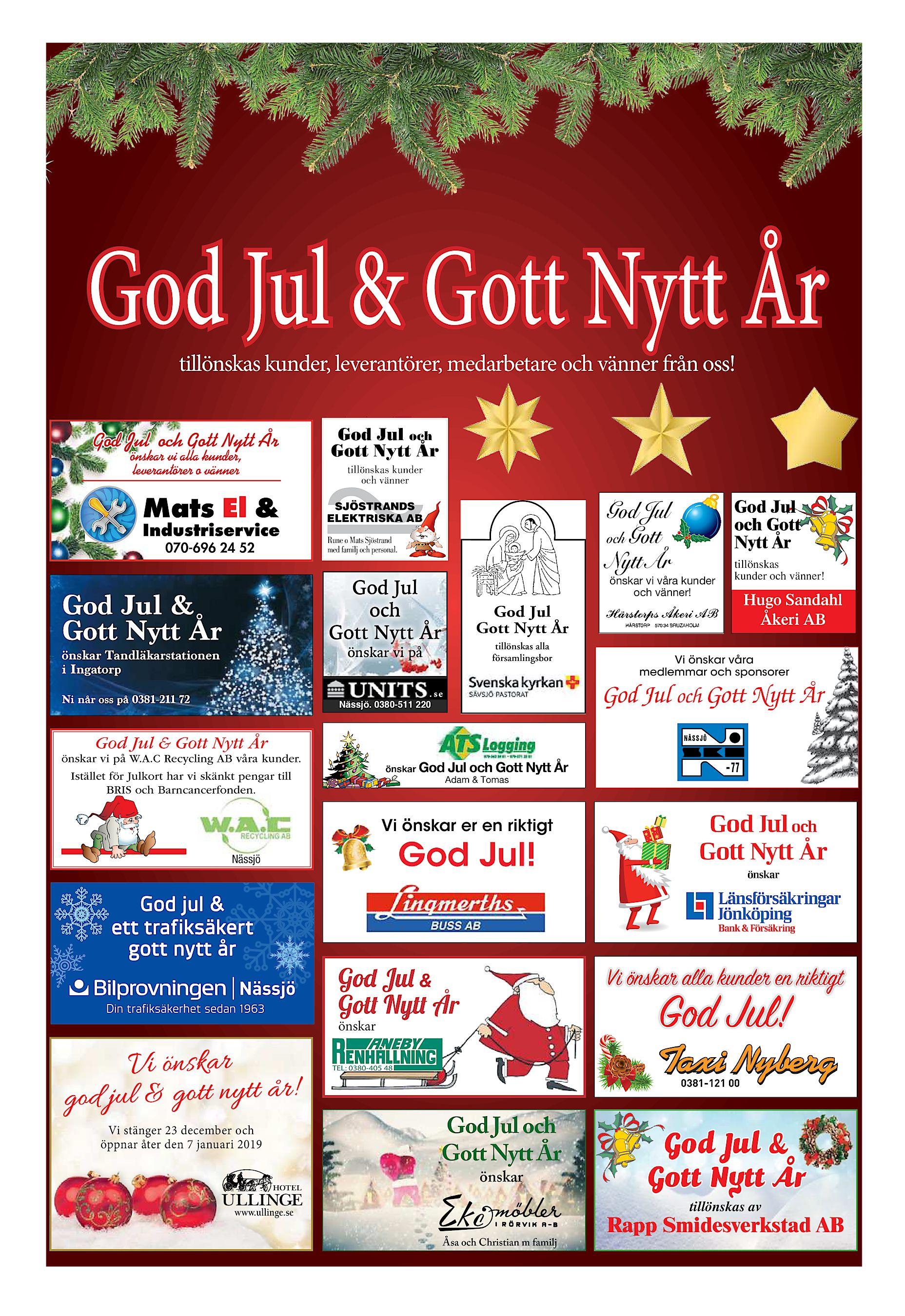 5286b49ae4f0 God Jul & Gott Nytt År tillönskas kunder, leverantörer, medarbetare och  vänner från oss! God Jul och Gott Nytt År önskar vi alla kunder,  leverantörer o ...