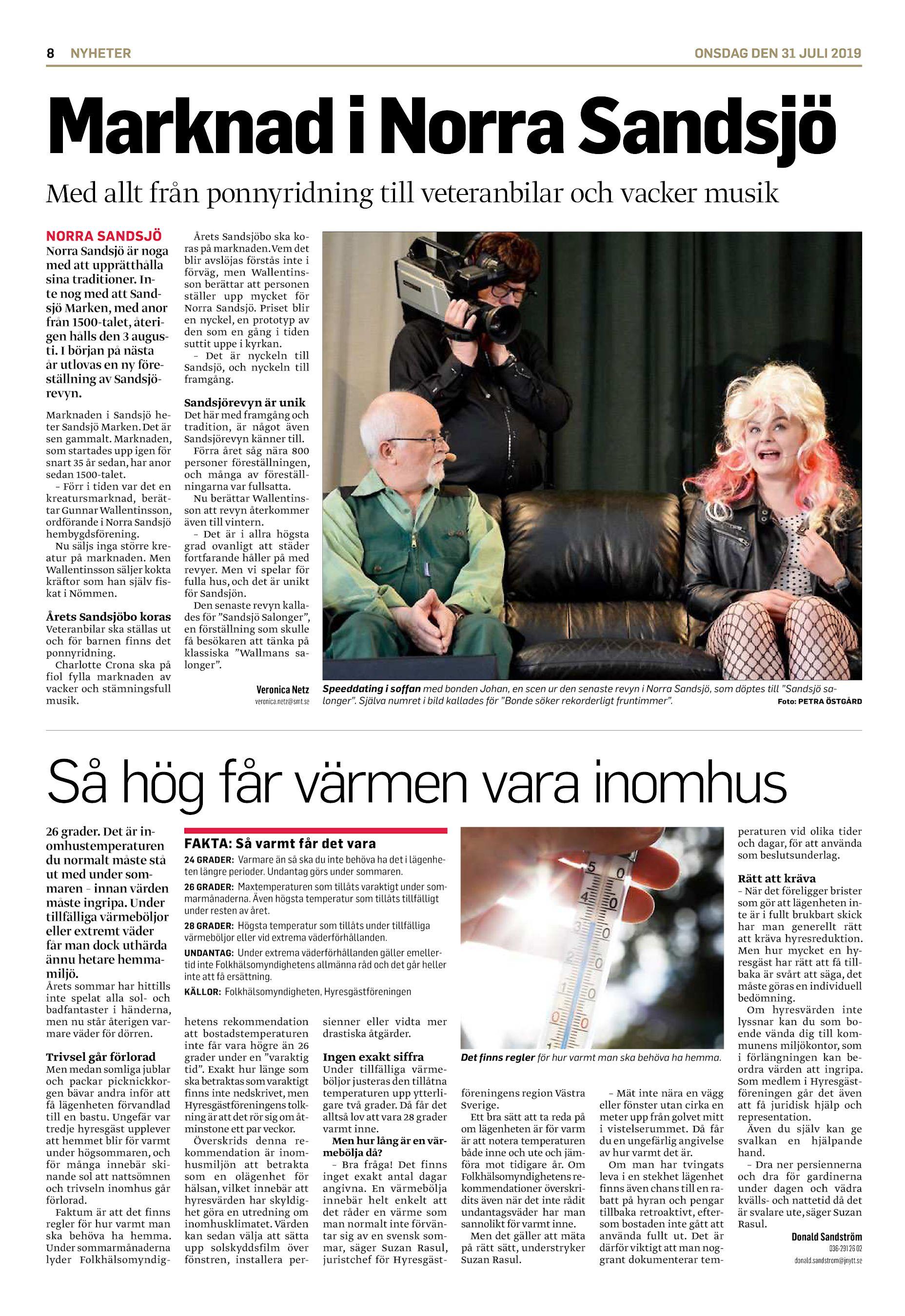 Ny revy planeras i Norra Sandsj - frst blir det marknad