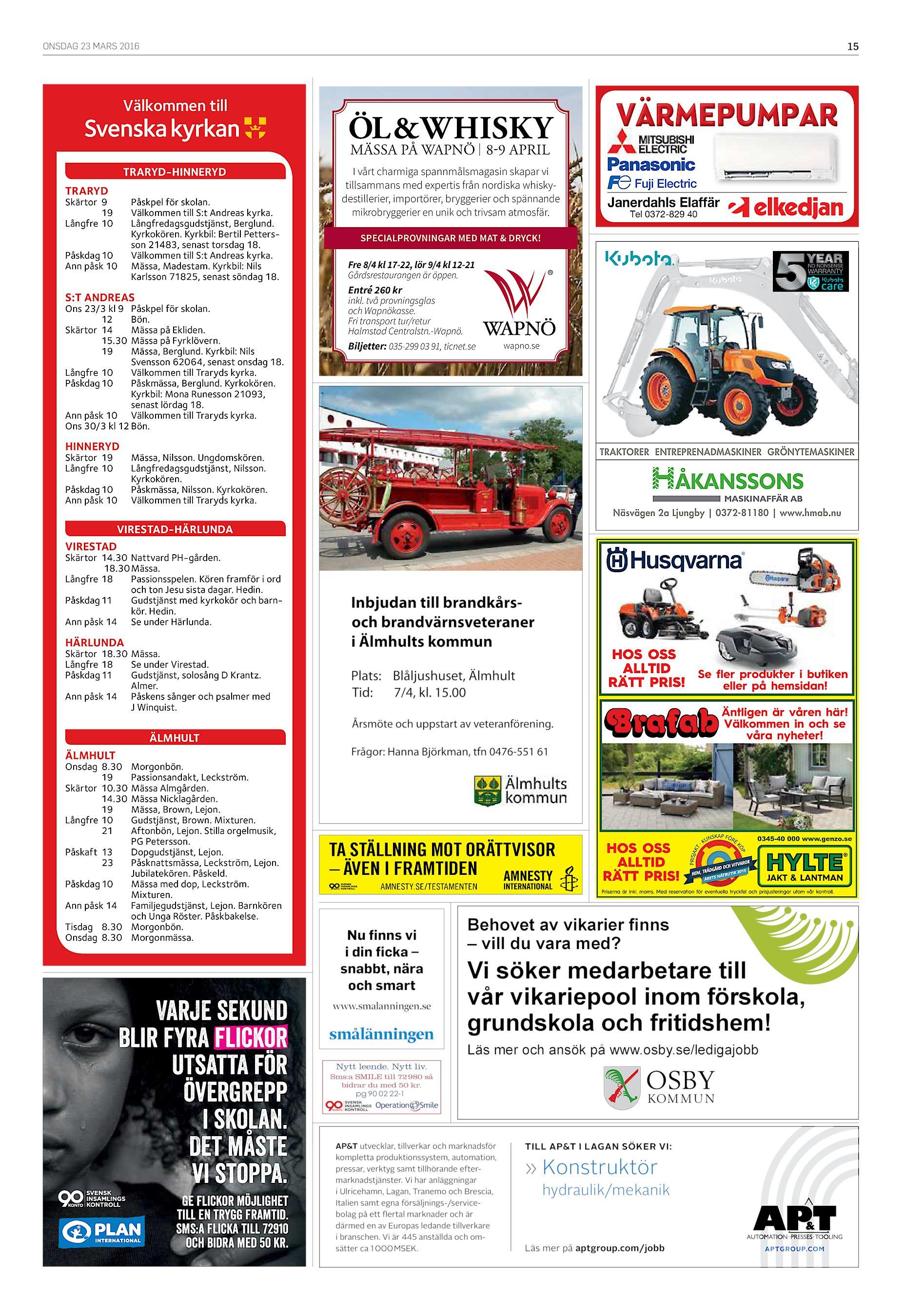 the latest 0bd0b 97007 ONSDAG 23 MARS 2016 15 Välkommen till TRARYD-HINNERYD TRARYD Skärtor 9 19  Långfre 10 Påskpel för skolan. Välkommen till S t Andreas kyrka.
