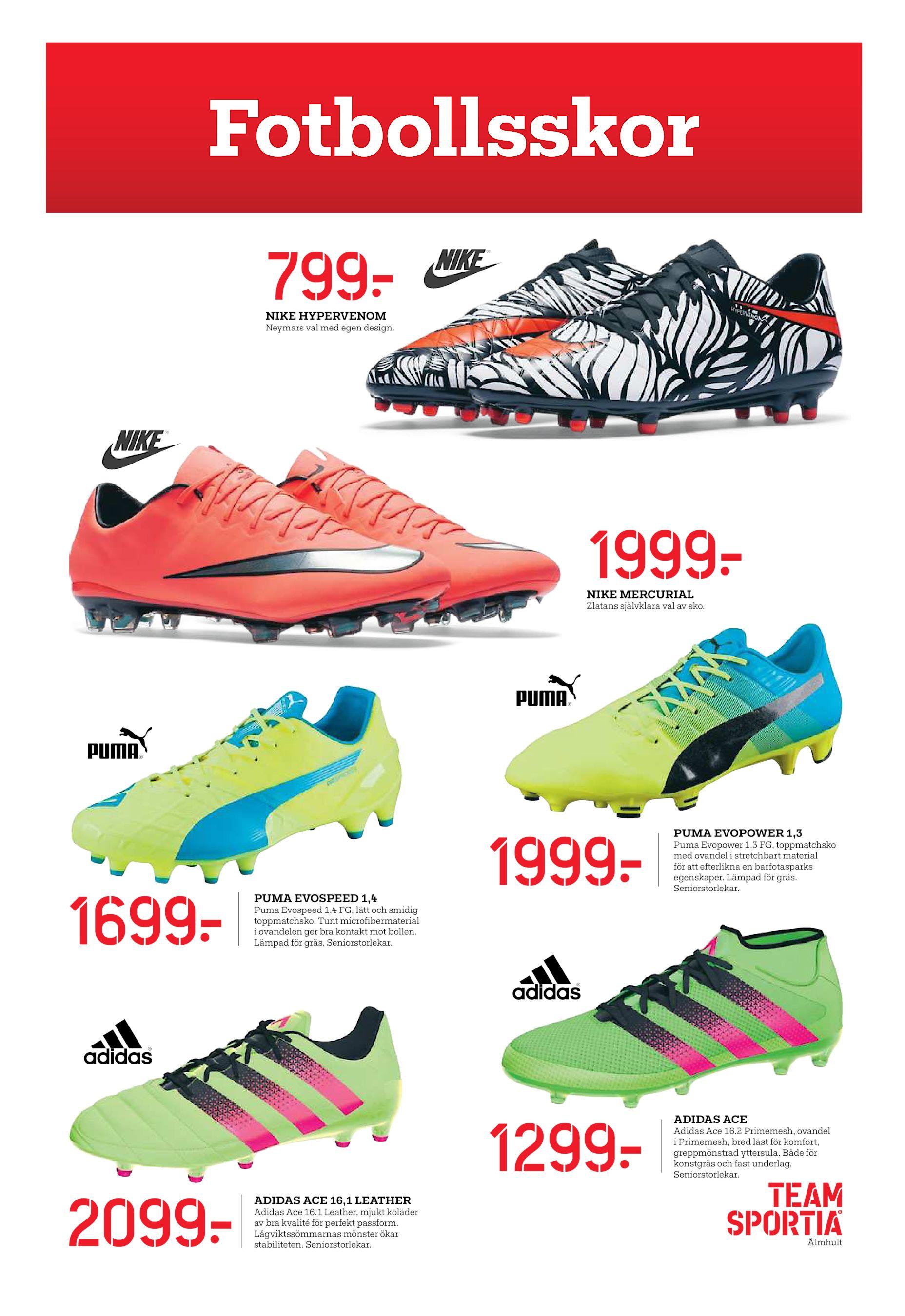 finest selection 96d0e 644b3 1999  NIKE MERCURIAL Zlatans självklara val av sko. 1999  1699  Puma  Evopower 1.3 FG, toppmatchsko med ovandel i stretchbart material för att  eterlikna ...
