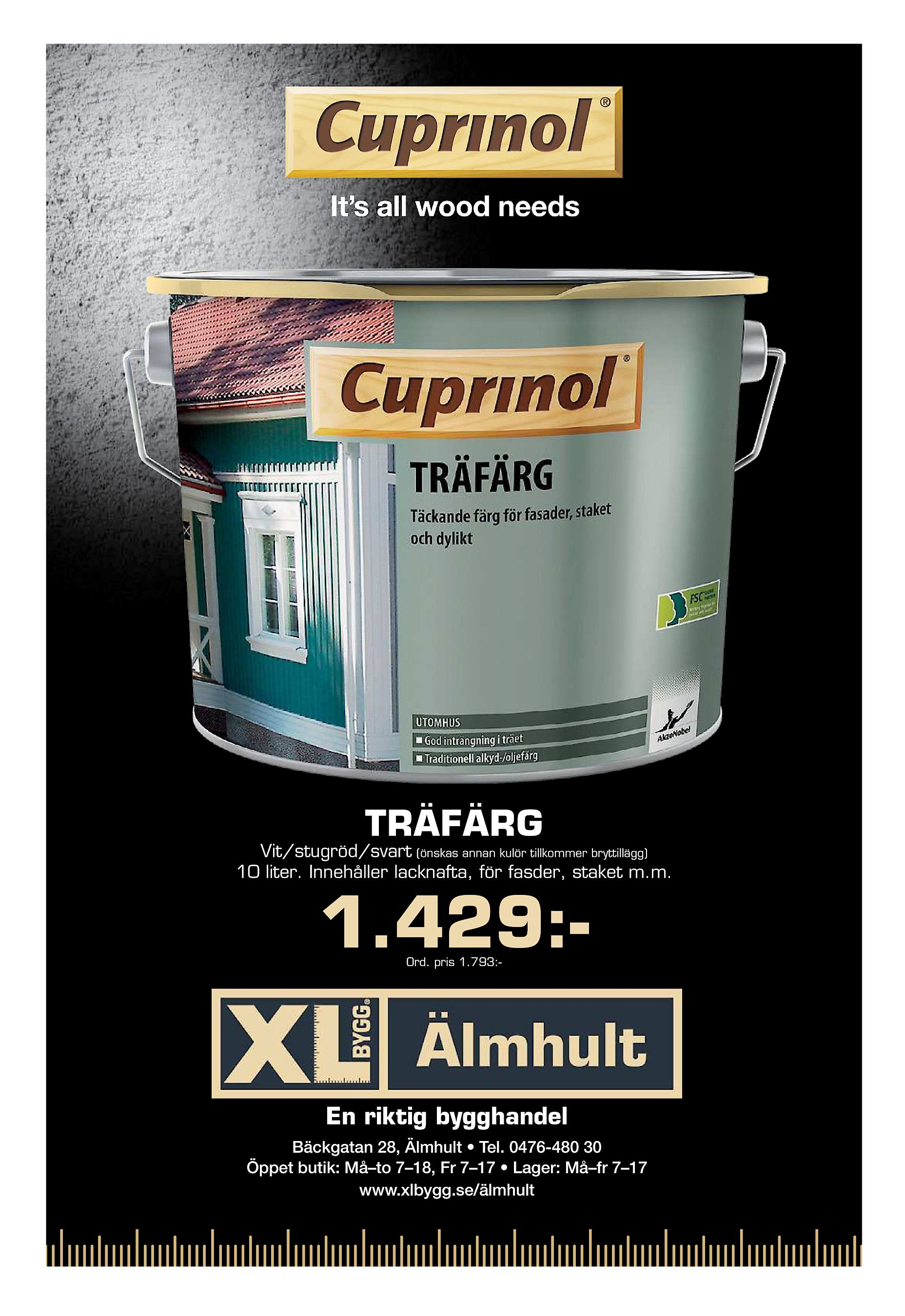 quality design 07f5a 28915 TRÄFÄRG Vit stugröd svart (önskas annan kulör tillkommer bryttillägg) 10  liter. Innehåller lacknafta, för fasder, staket m.m. 1.429 Ord. pris  1.793 - En ...