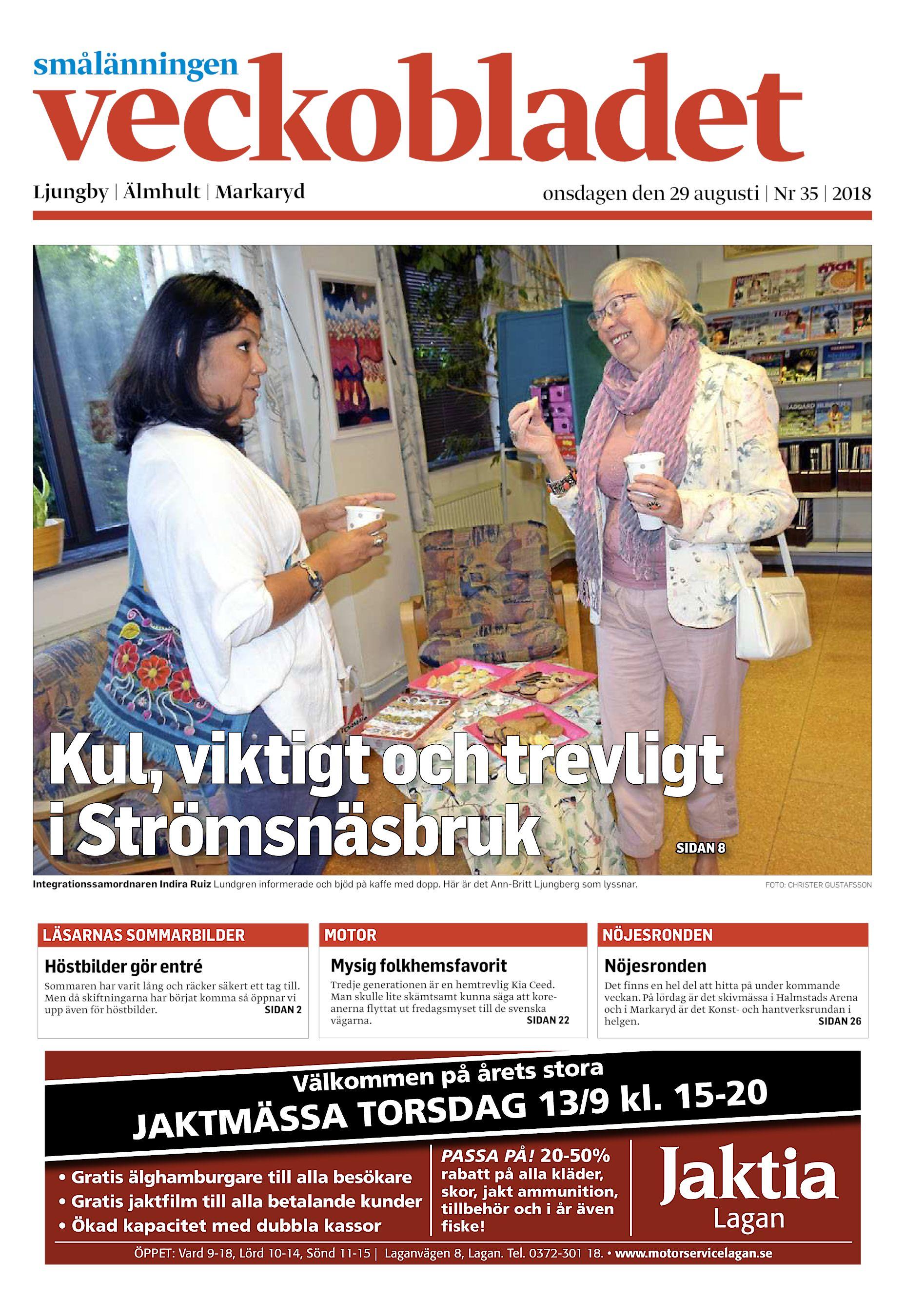 check out 3ecdc 6c0da Ljungby   Älmhult   Markaryd onsdagen den 29 augusti   Nr 35   2018 Kul,  viktigt och trevligt i Strömsnäsbruk SIDAN 8 Integrationssamordnaren Indira  Ruiz ...