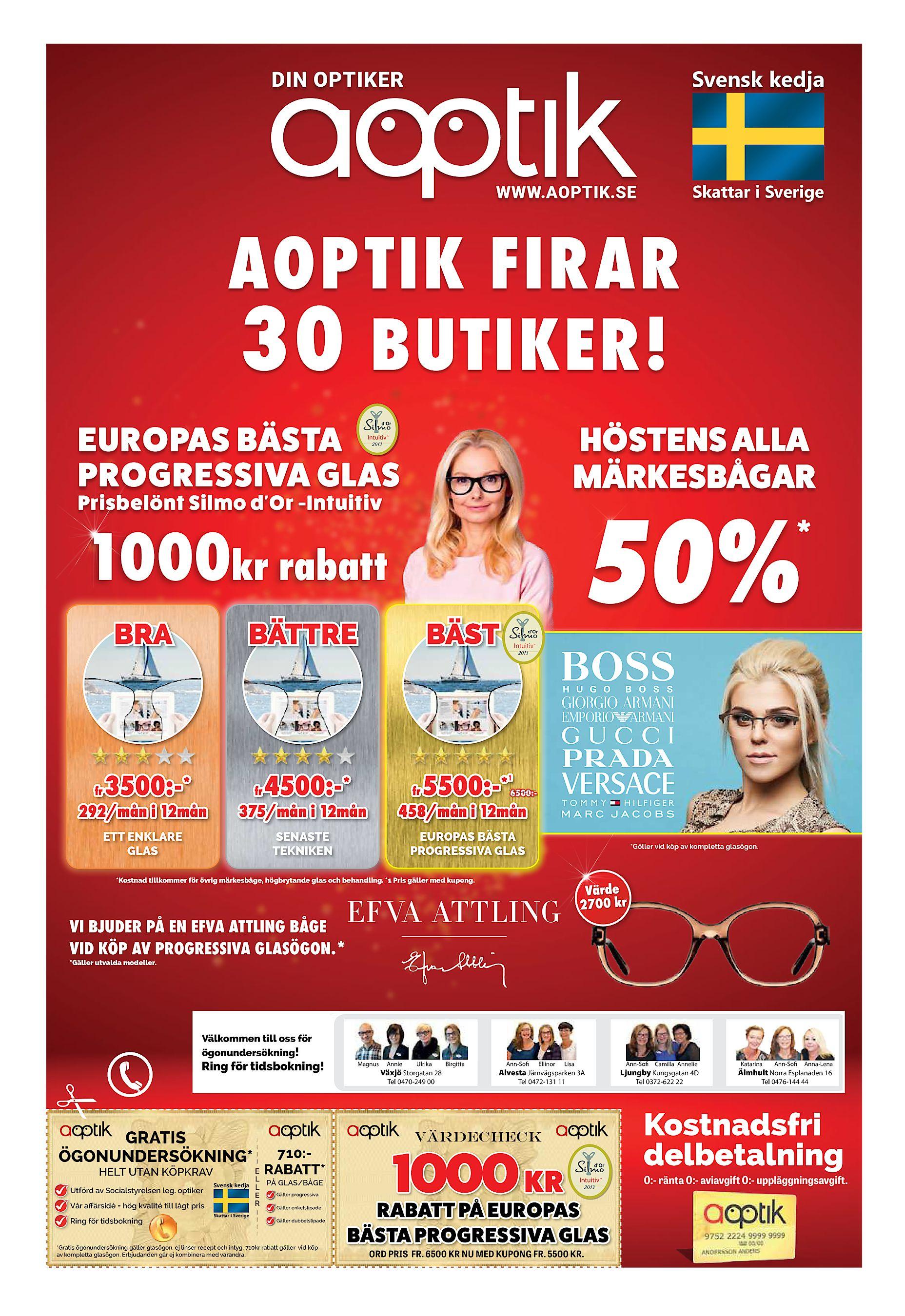 8f033faa7ee HÖSTENS ALLA MÄRKESBÅGAR EUROPAS BÄSTA PROGRESSIVA GLAS Prisbelönt Silmo  d'Or -Intuitiv * 1000kr rabatt BRA fr 50% BÄTTRE ...