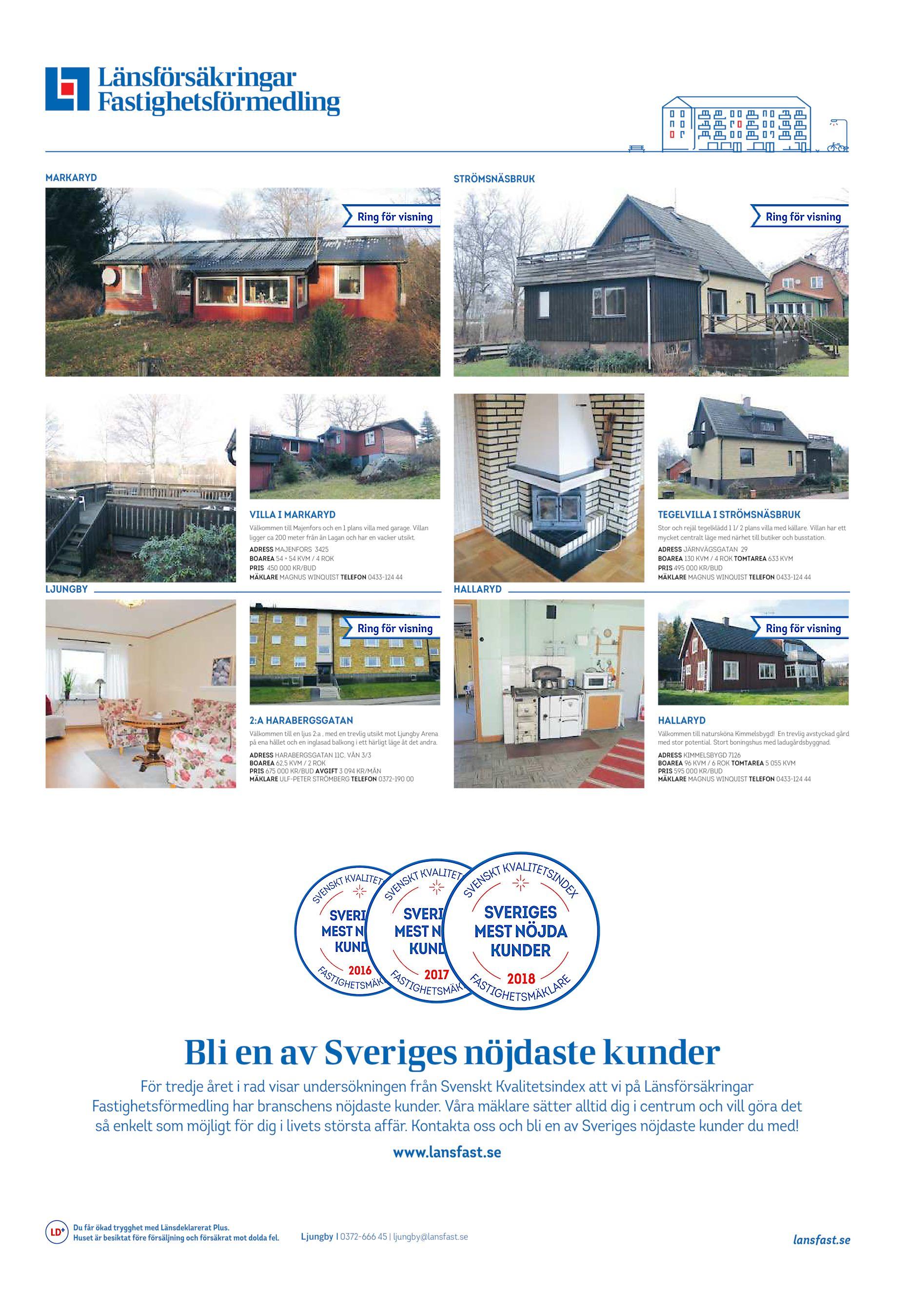 MARKARYD STRÖMSNÄSBRUK Ring för visning Ring för visning VILLA I MARKARYD  TEGELVILLA I STRÖMSNÄSBRUK Välkommen till Majenfors och en 1 plans villa  med ... 3f012c0df496d