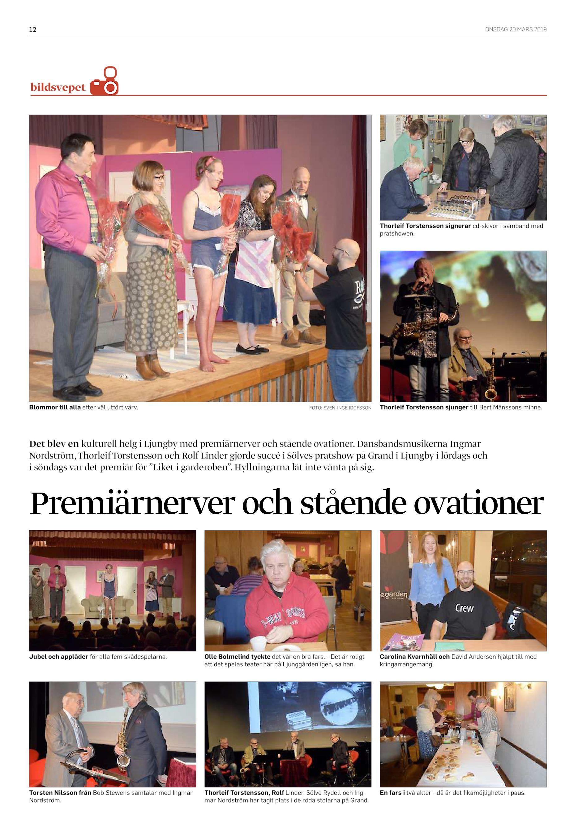 da76a2119087 12 ONSDAG 20 MARS 2019 bildsvepet Veckans bildsvep kommer avslutningsfesten  på restaurang XXxxxxxxxxxxxxxxx Thorleif Torstensson signerar cd-skivor i  ...