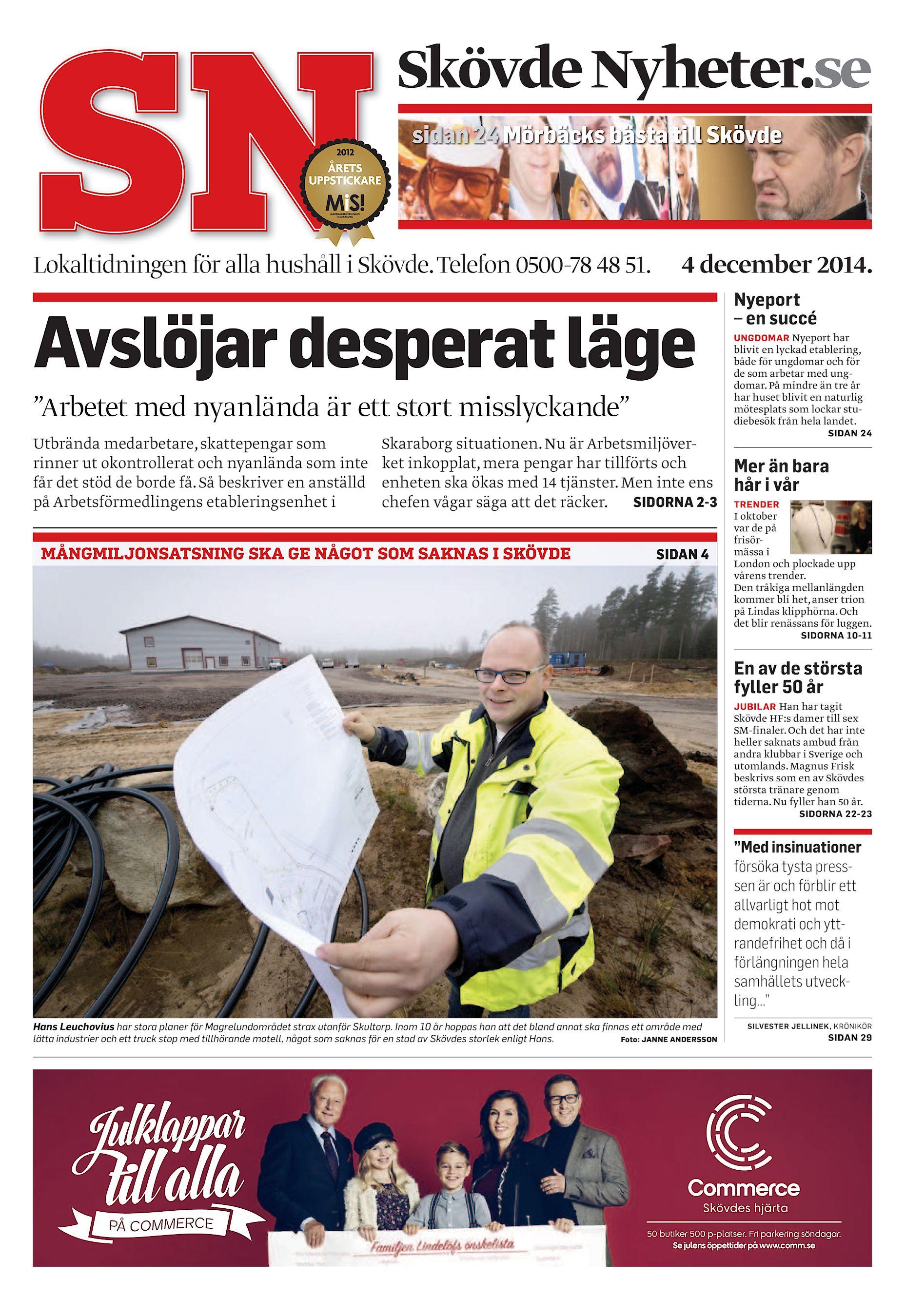 Skövde Nyheter.se sidan 24 Mörbäcks bästa till Skövde Lokaltidningen för  alla hushåll i Skövde. Telefon 0500-78 48 51. 4 december 2014. cfa7c618571c7
