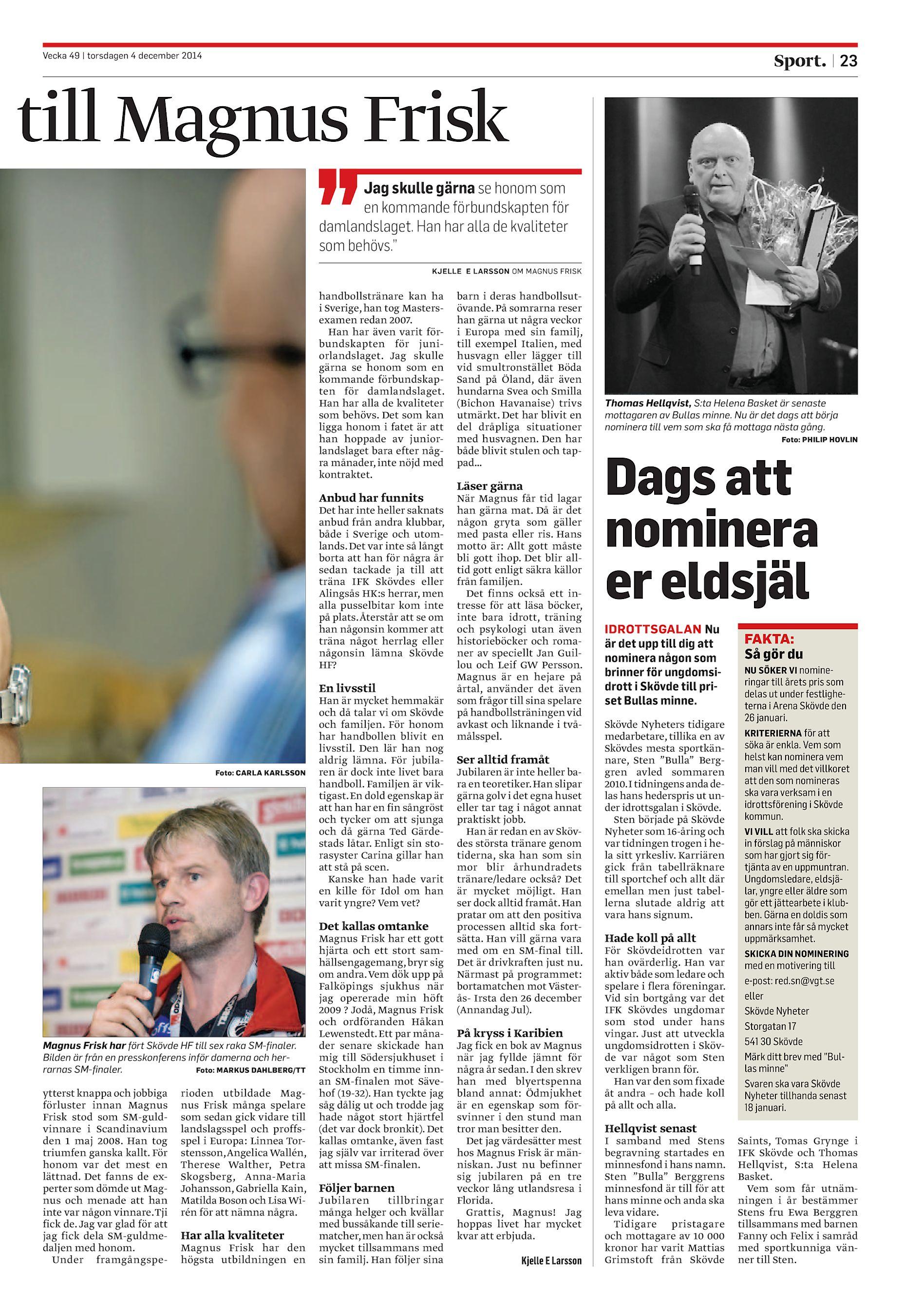 Skövde Nyheter SN-20141204 (endast text) 5fd3c77a000f6