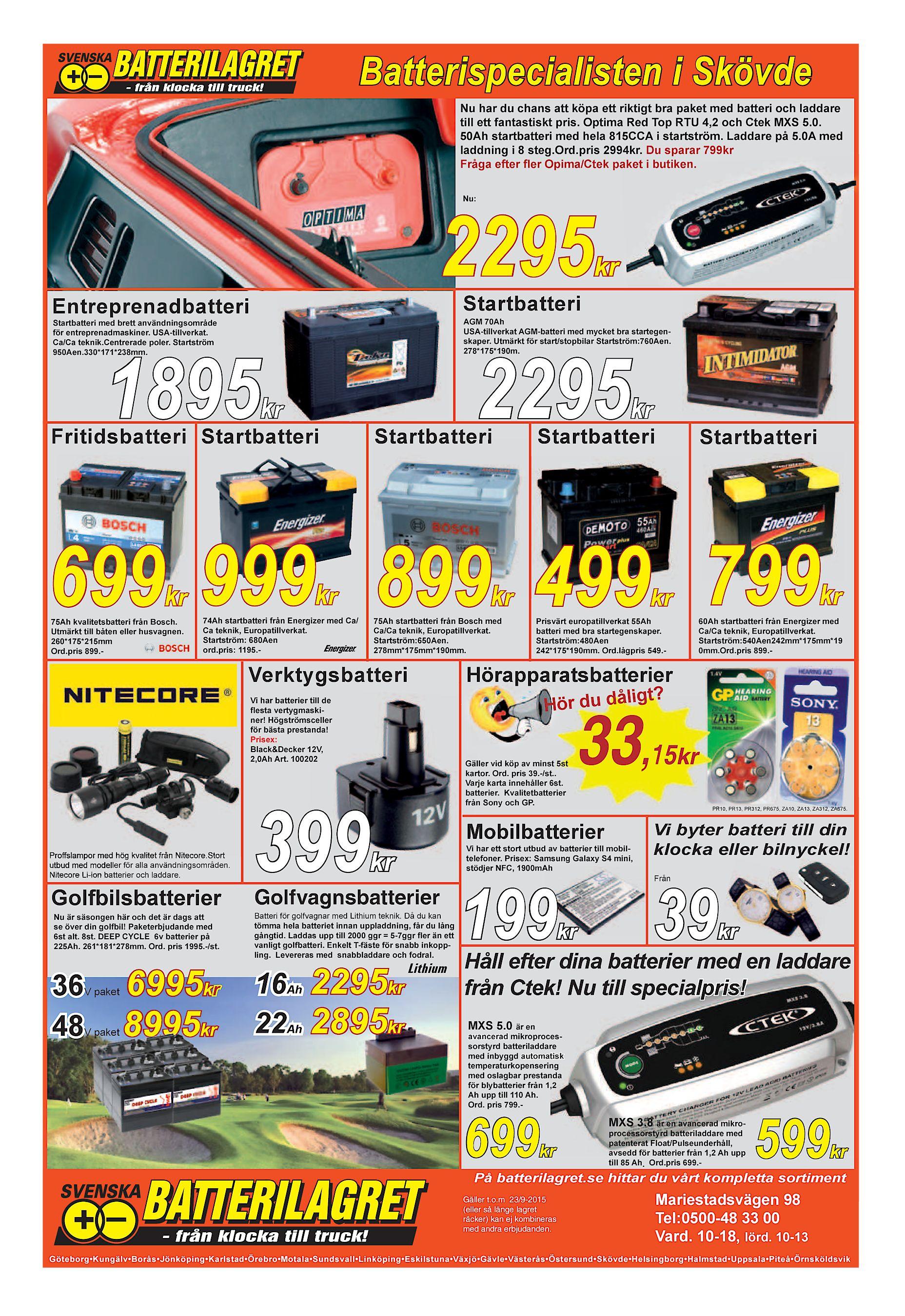 quality design 575b8 bbc1e Batterispecialisten i Skövde Nu har du chans att köpa ett riktigt bra paket  med batteri och laddare till ett fantastiskt pris. Optima Red Top RTU 4,2  och ...