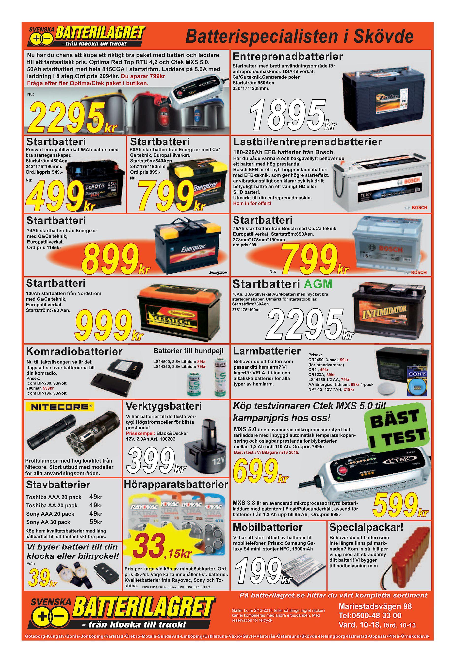 Batterispecialisten i Skövde Nu har du chans att köpa ett riktigt bra paket  med batteri och laddare till ett fantastiskt pris. Optima Red Top RTU 4 0efb6480b97e4