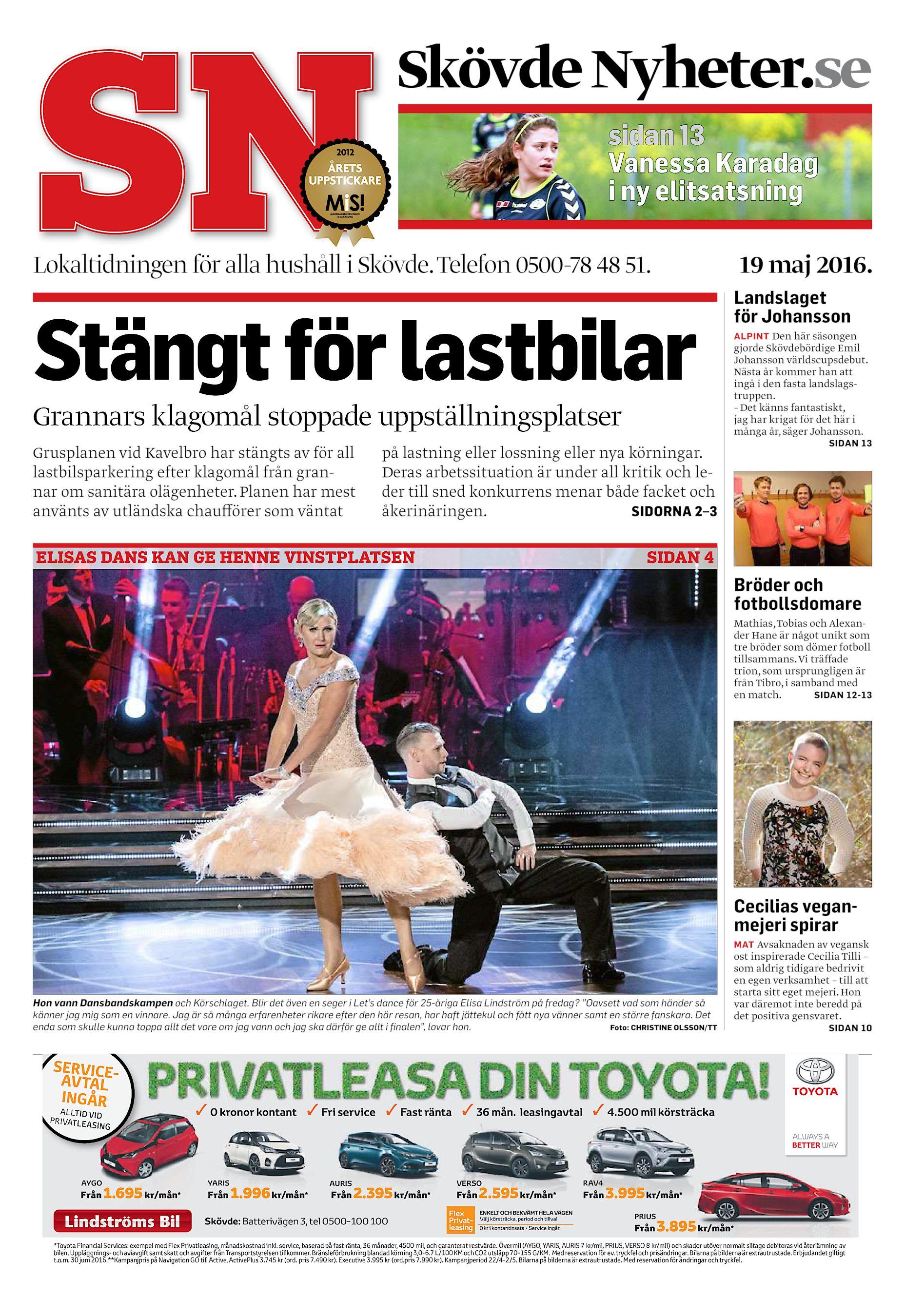 6e8b55a850e2 Skövde Nyheter.se sidan 13 Vanessa Karadag i ny elitsatsning Lokaltidningen  för alla hushåll i