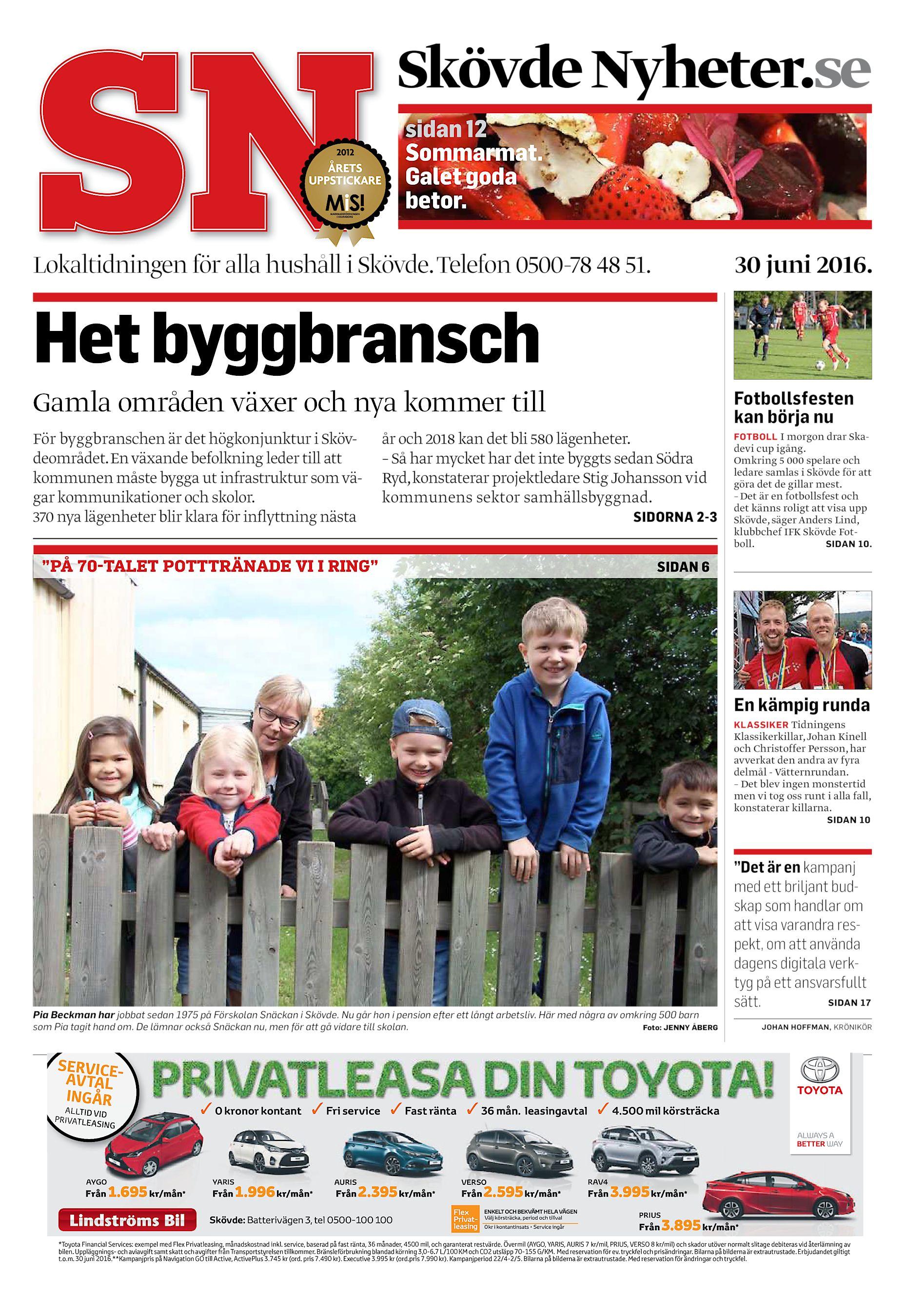 2b875d18a49a Skövde Nyheter.se sidan 12 Sommarmat. Galet goda betor. Lokaltidningen för alla  hushåll