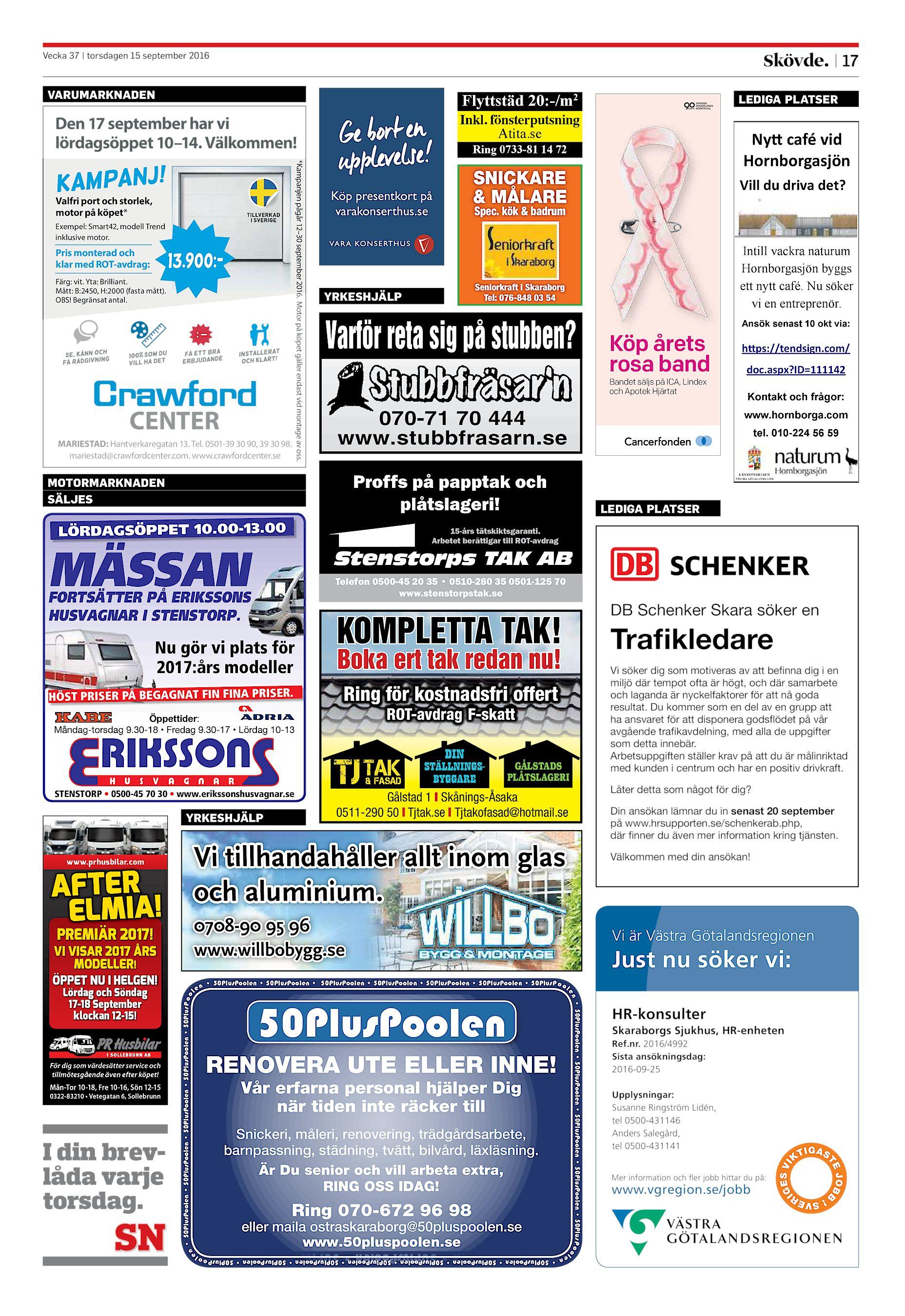 big sale d0076 ce344 Skövde Nyheter SN-20160915 (endast text)