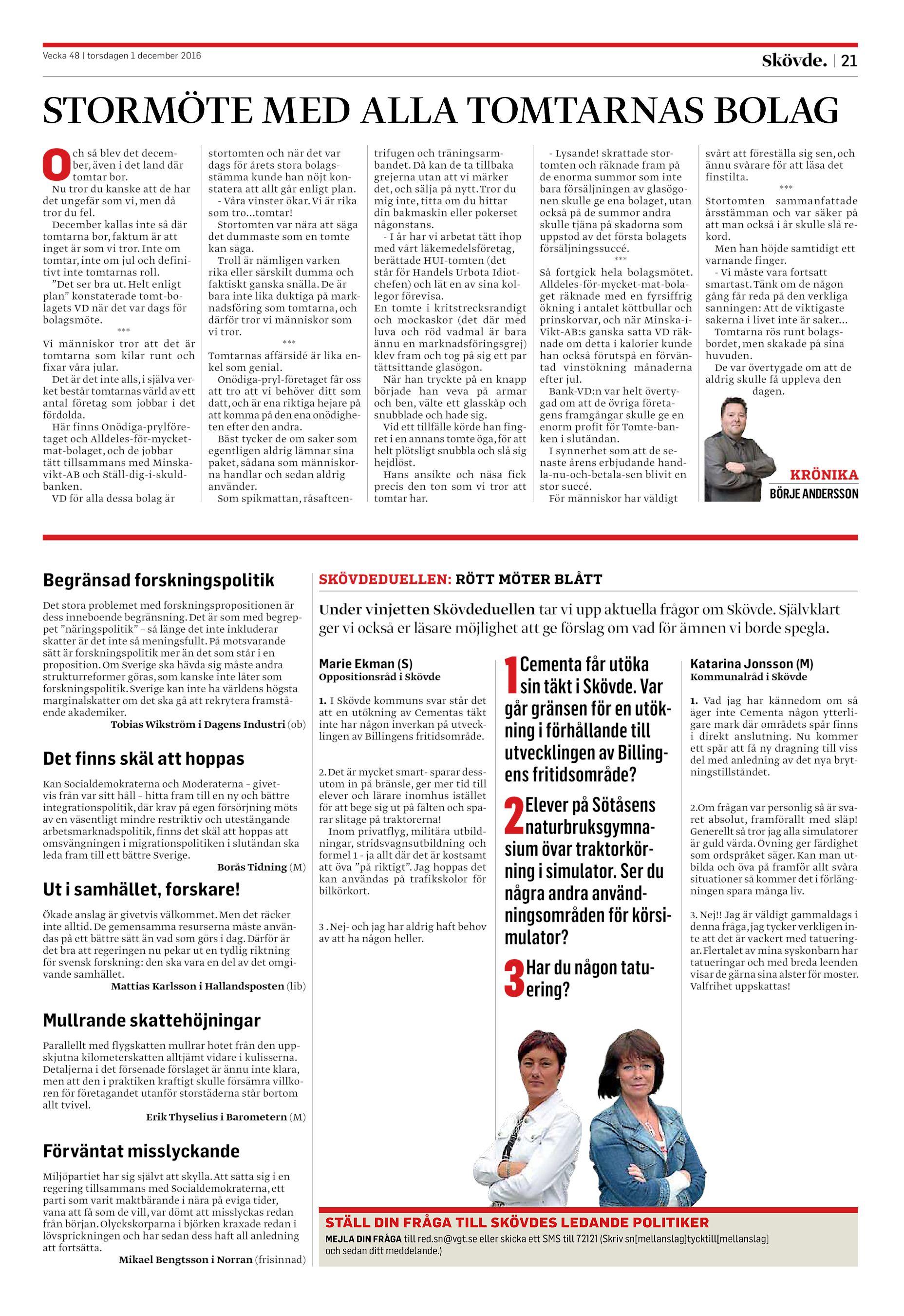 Skövde Nyheter SN-20161201 (endast text) 18331edf81ce4