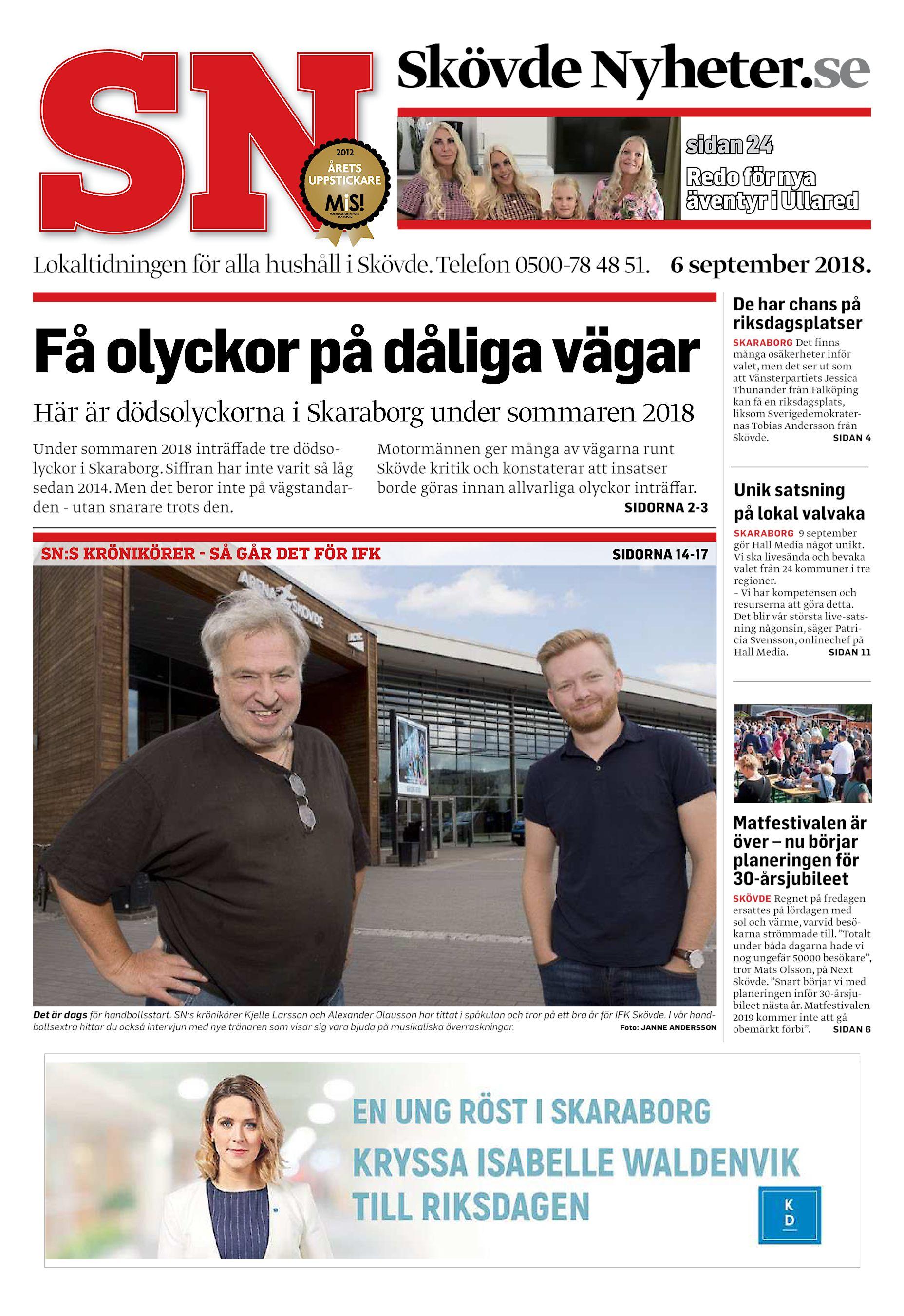 Skövde Nyheter.se sidan 24 Redo för nya äventyr i Ullared Lokaltidningen  för alla hushåll i Skövde. Telefon 0500-78 48 51. 6 september 2018. 52e1beb2e4ec4