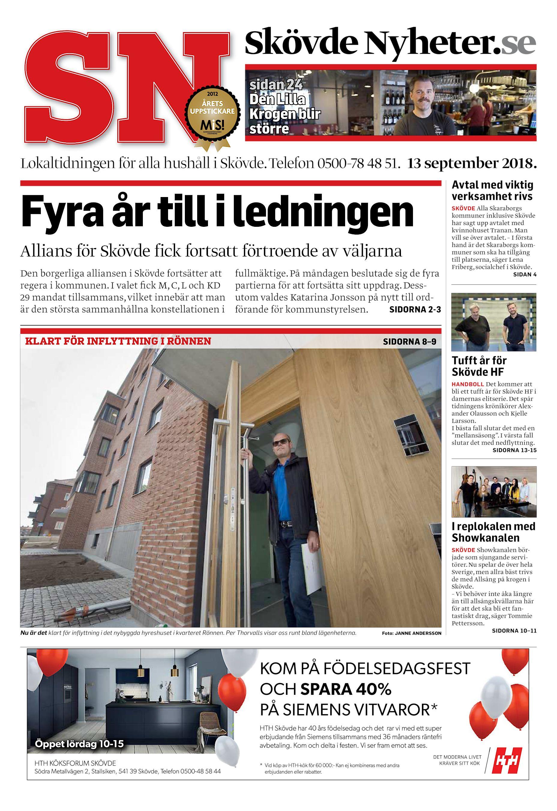 525e0298c9b Skövde Nyheter.se sidan 24 Den Lilla Krogen blir större Lokaltidningen för  alla hushåll i Skövde. Telefon 0500-78 48 51. 13 september 2018.