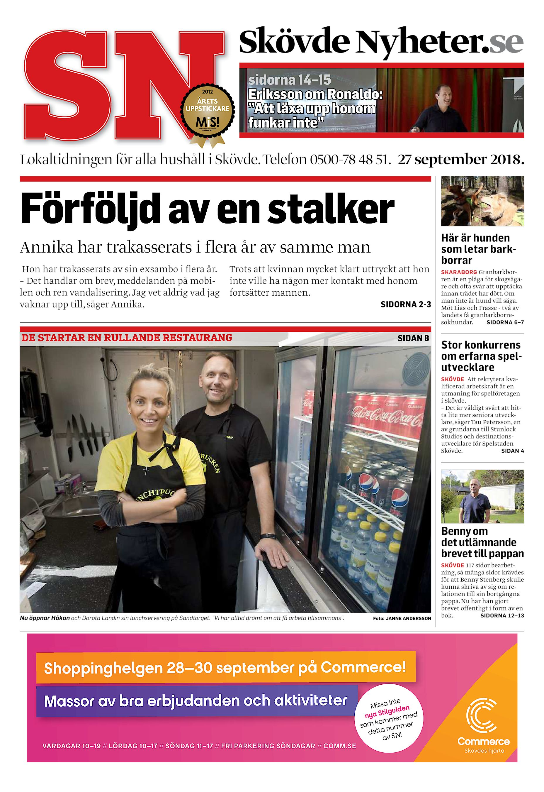 """057312aed192 Skövde Nyheter.se sidorna 14–15 Eriksson om Ronaldo: """"Att läxa upp honom  funkar inte"""" Lokaltidningen för alla hushåll i Skövde. Telefon 0500-78 48  51."""