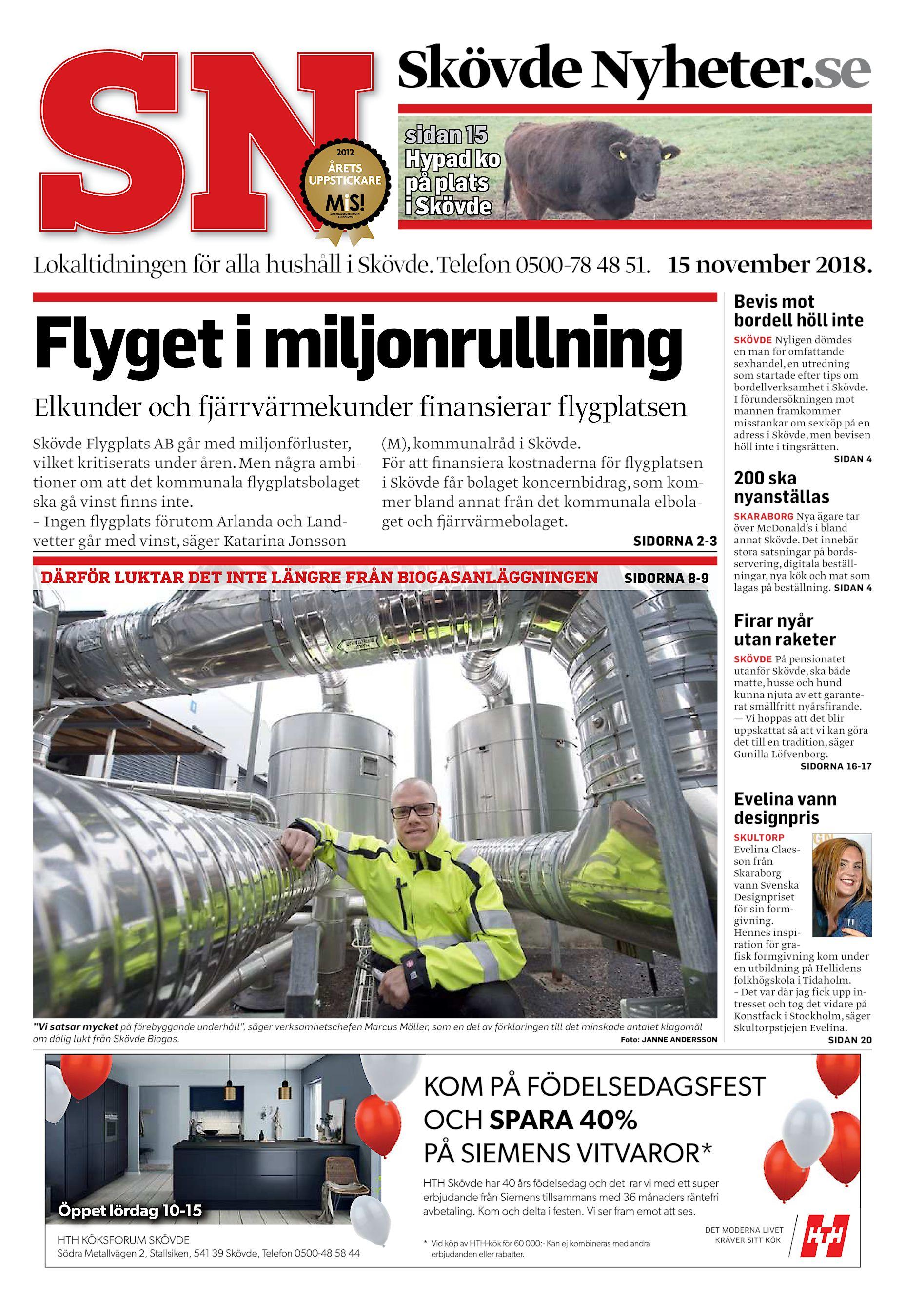 5133c860e716 Skövde Nyheter.se sidan 15 Hypad ko på plats i Skövde Lokaltidningen för  alla hushåll i Skövde. Telefon 0500-78 48 51. 15 november 2018.