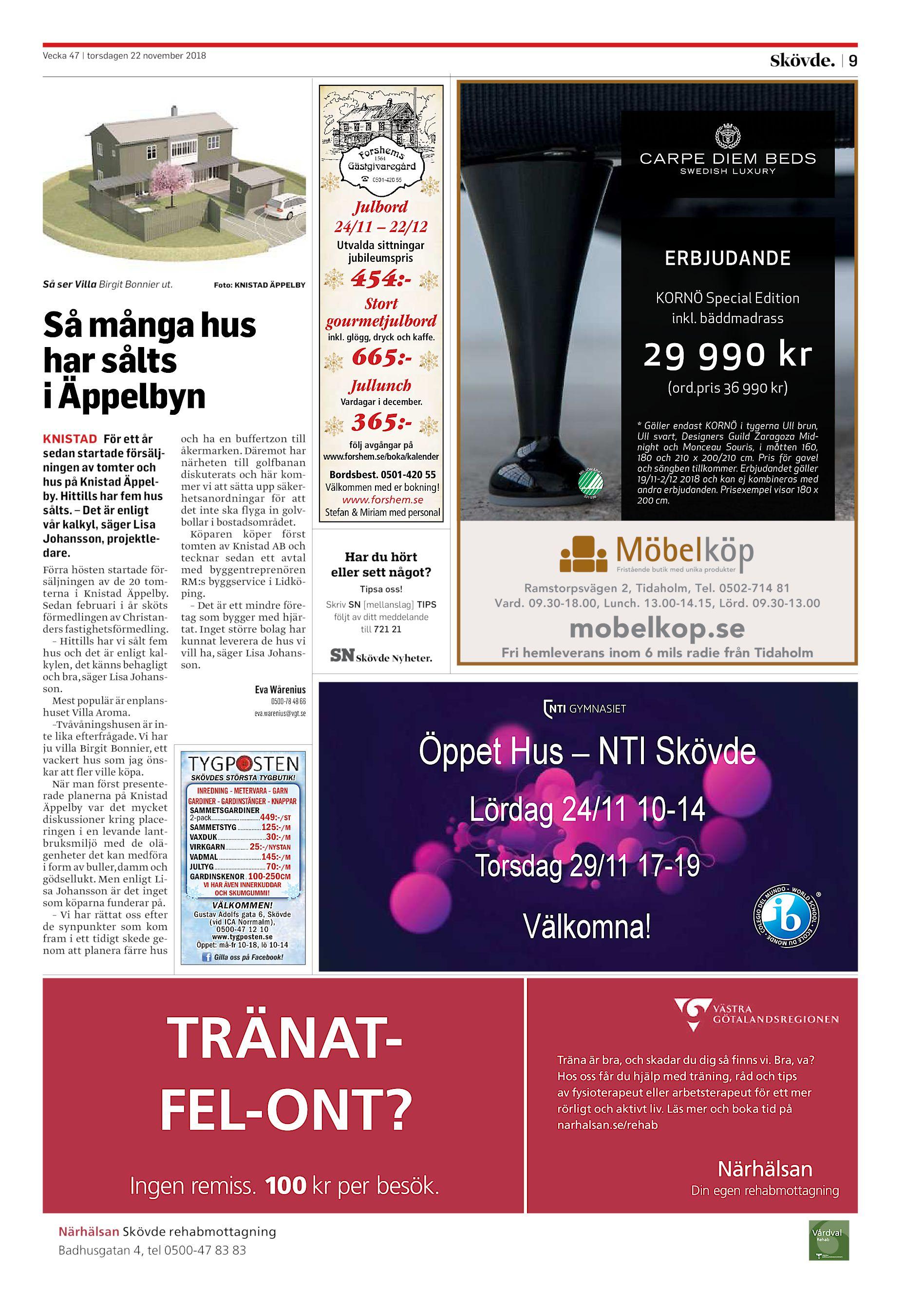 300a6271e97a 9 1564 Julbord 24/11 – 22/12 Utvalda sittningar jubileumspris Så många hus  har sålts i Äppelbyn Förra hösten startade försäljningen av de 20 ...