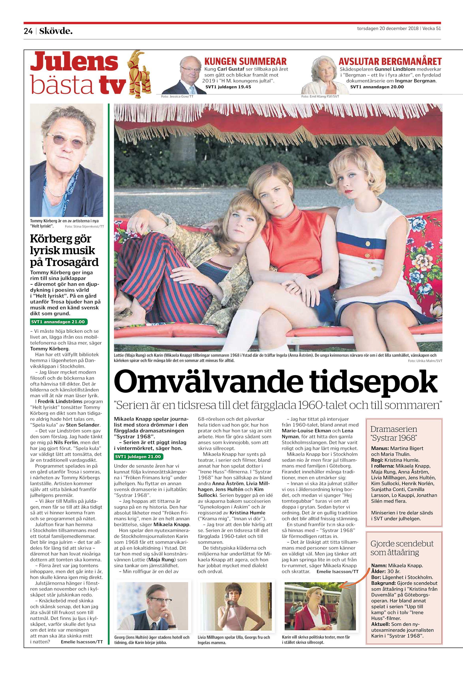 """4b6ab40a67c1 Julens bästa tv KUNGEN SUMMERAR AVSLUTAR BERGMANÅRET Kung Carl Gustaf ser  tillbaka på året som gått och blickar framåt mot 2019 i """" ..."""