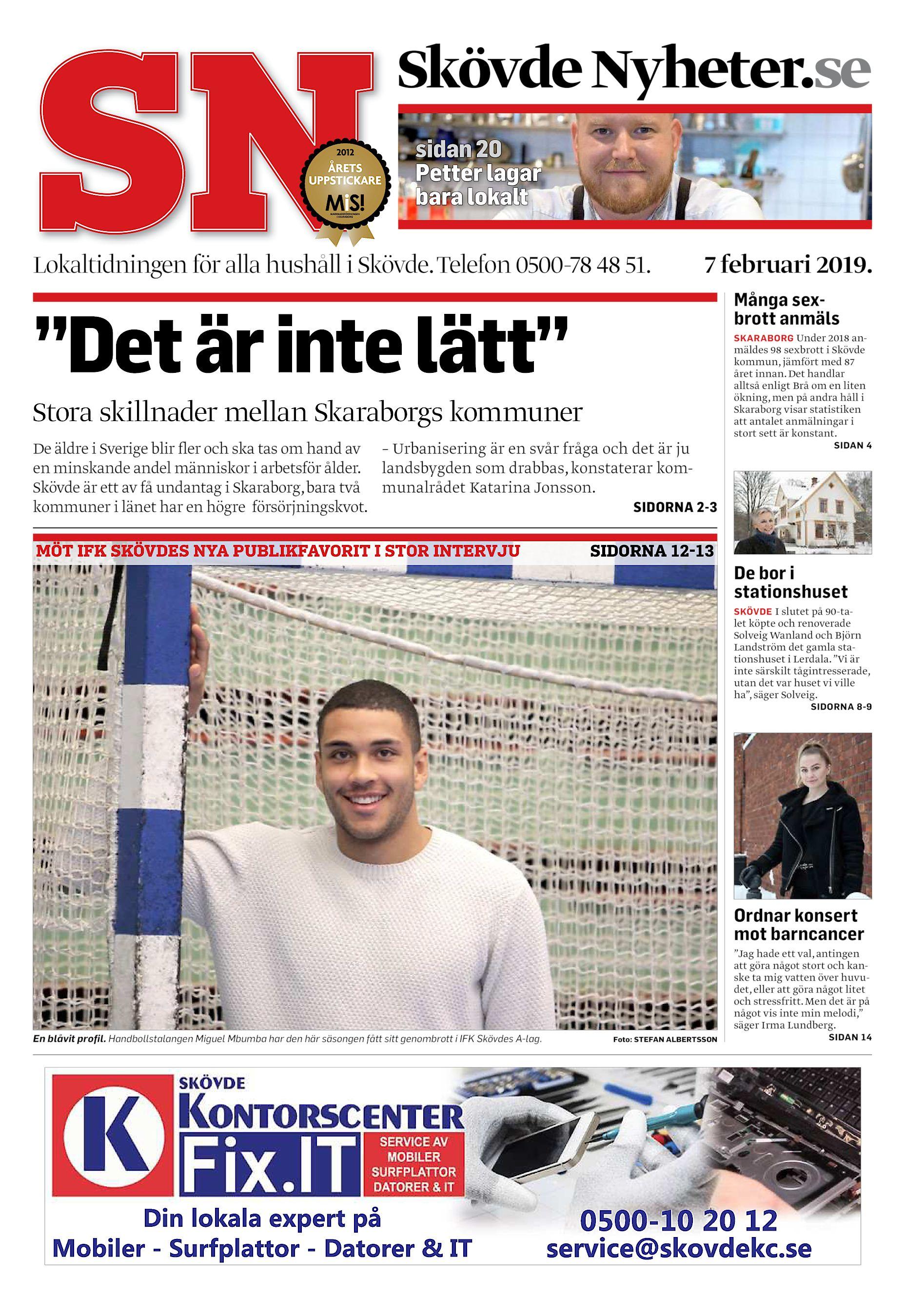acd0ba462173 Skövde Nyheter.se sidan 20 Petter lagar bara lokalt Lokaltidningen för alla  hushåll i Skövde