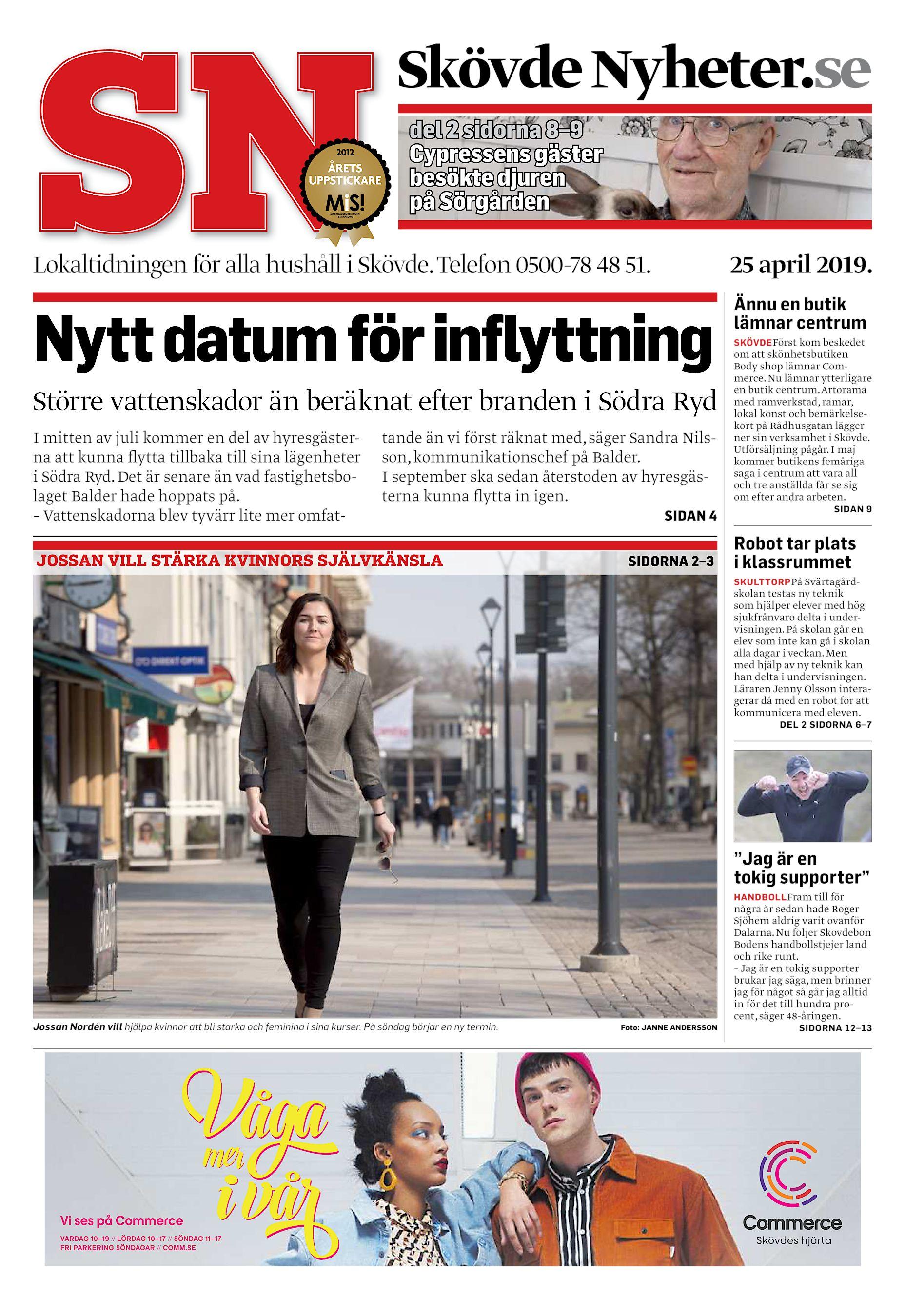 8fdc26a42488 Skövde Nyheter.se del 2 sidorna 8–9 Cypressens gäster besökte djuren på  Sörgården Lokaltidningen för alla hushåll i Skövde. Telefon 0500-78 48 51.