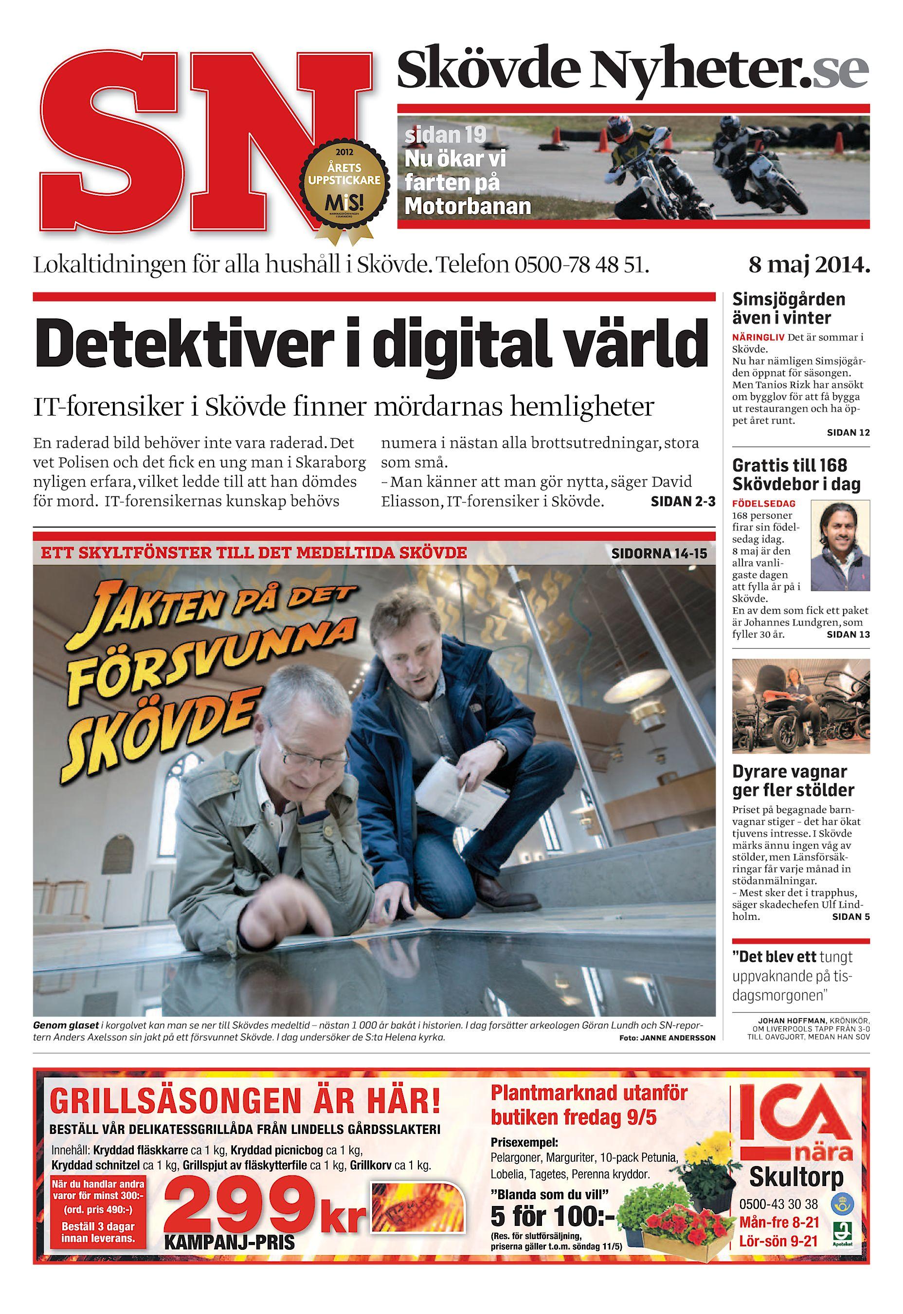 a352622b5c58 Skövde Nyheter.se sidan 19 Nu ökar vi farten på Motorbanan Lokaltidningen  för alla hushåll i Skövde. Telefon 0500-78 48 51. Detektiver i digital  värld ...