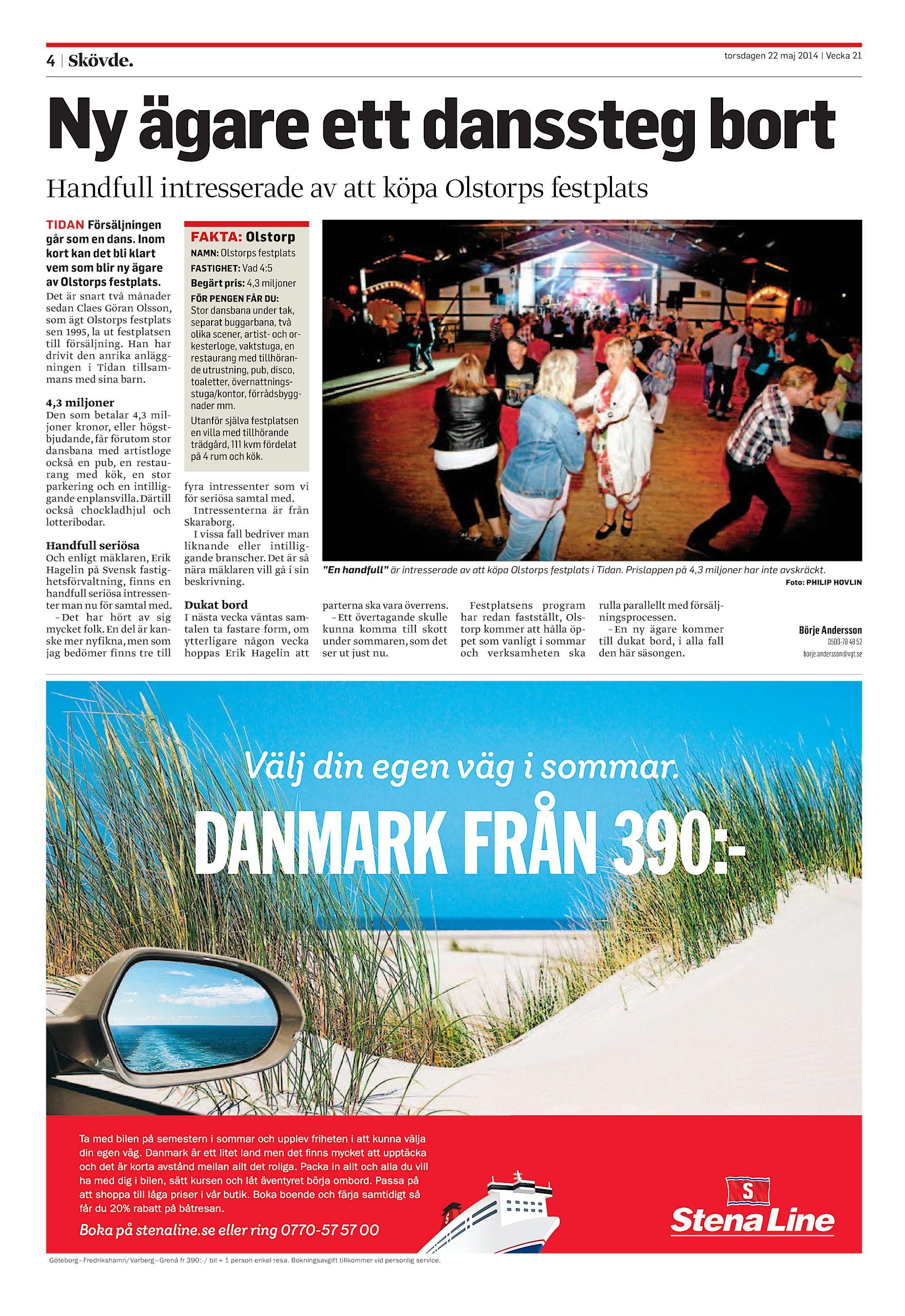 Ny ägare ett danssteg bort Handfull intresserade av att köpa Olstorps  festplats TIDAN Försäljningen går som en dans. Inom kort kan det ... 2ca2109cf1470