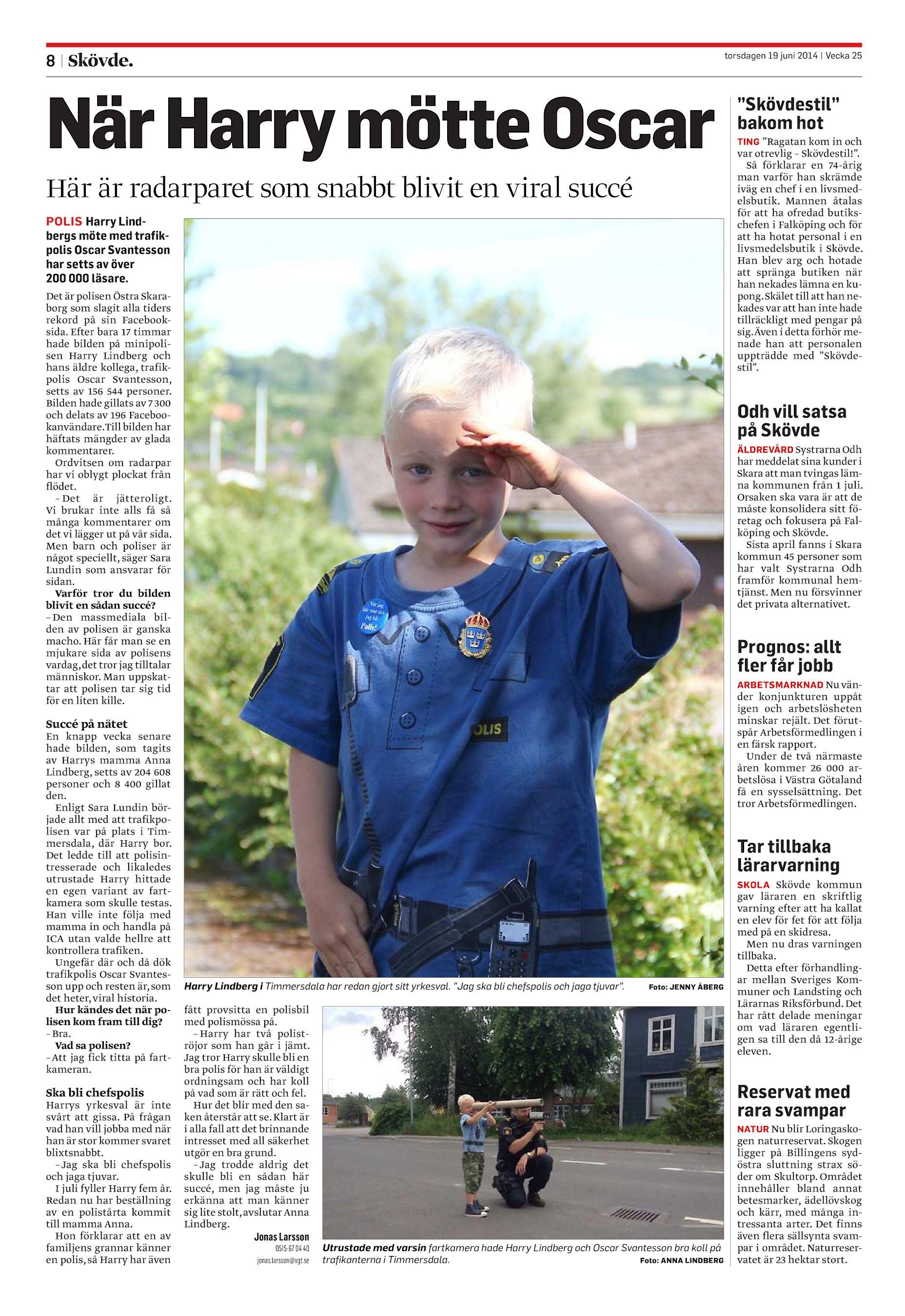 När Harry mötte Oscar Här är radarparet som snabbt blivit en viral succé  POLIS Harry Lindbergs möte med trafikpolis Oscar Svantesson har ... 468b5e7f93b4e