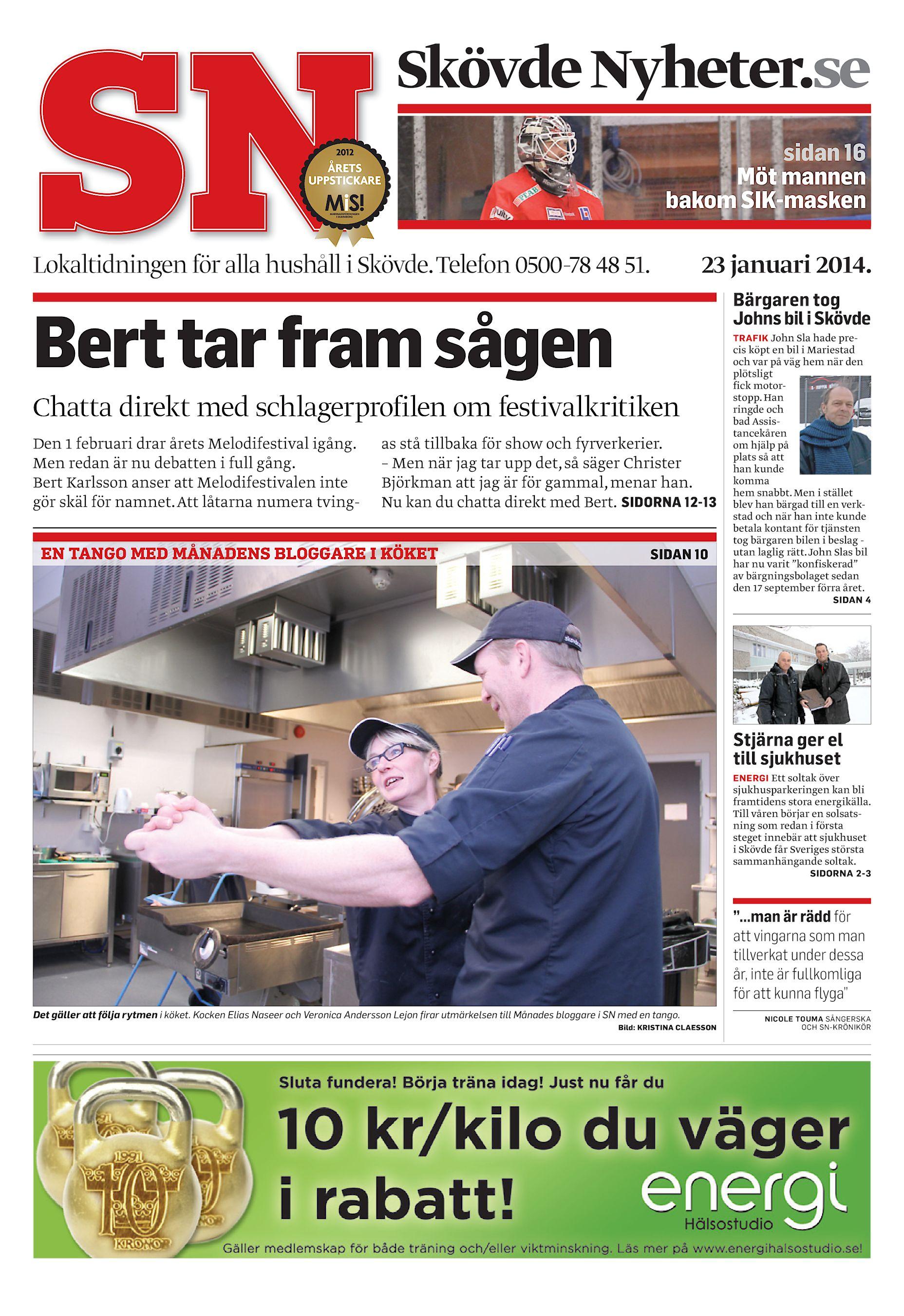 Skövde Nyheter.se sidan 16 Möt mannen bakom SIK-masken Lokaltidningen för  alla hushåll i Skövde. Telefon 0500-78 48 51. 23 januari 2014. 5ec018a2000a8